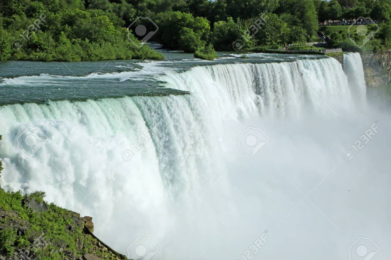 Side View Of American Niagara Falls New York