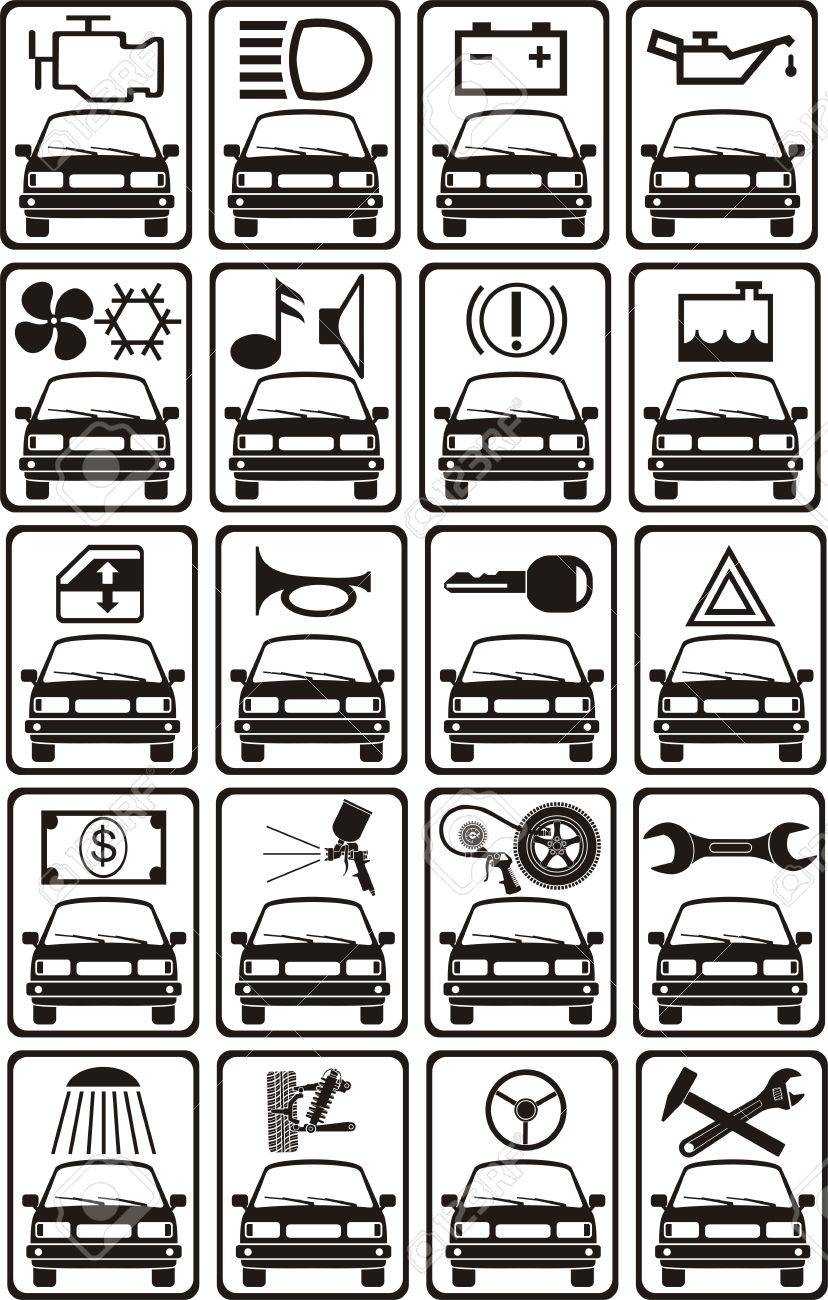 set of car service sign Stock Vector - 11163741