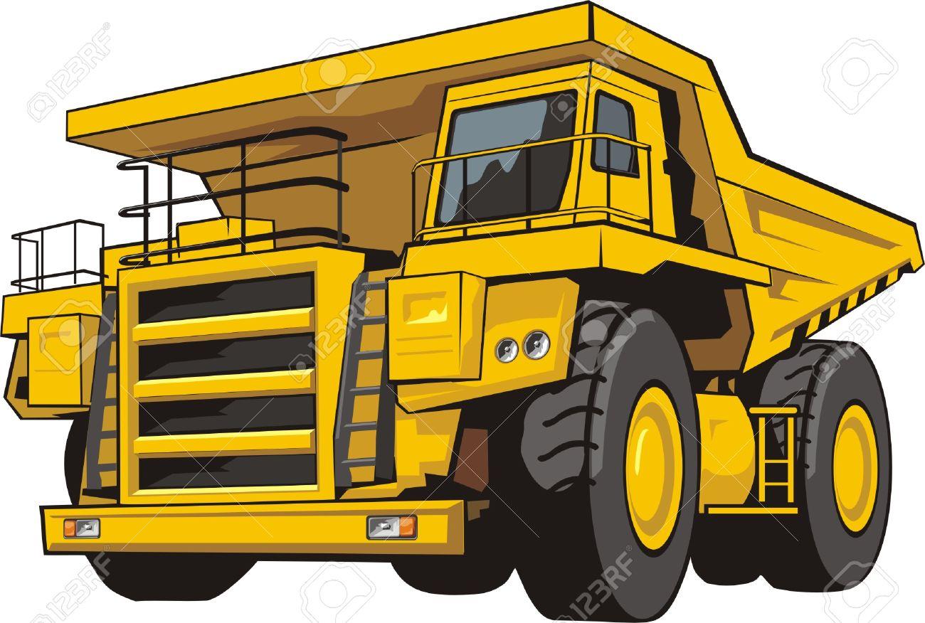 Heavy quarry dump truck of transportation of the soil stock vector 31399824