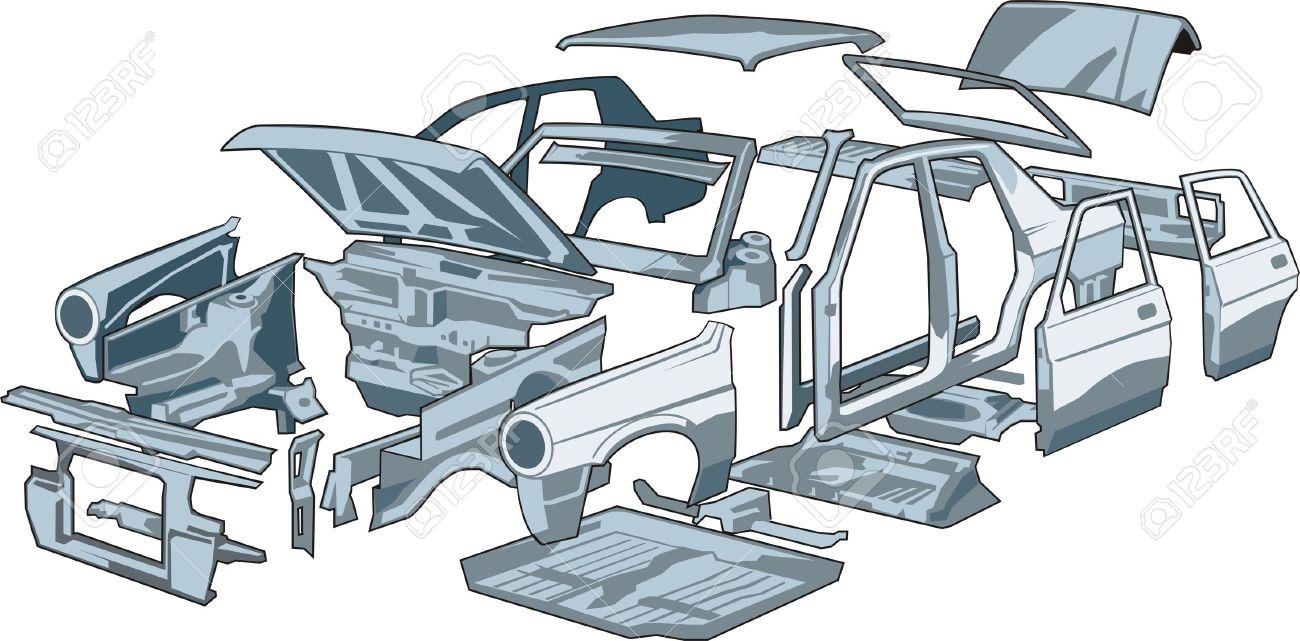 Car Body Parts Royalty Free Cliparts, Vectors, And Stock ...