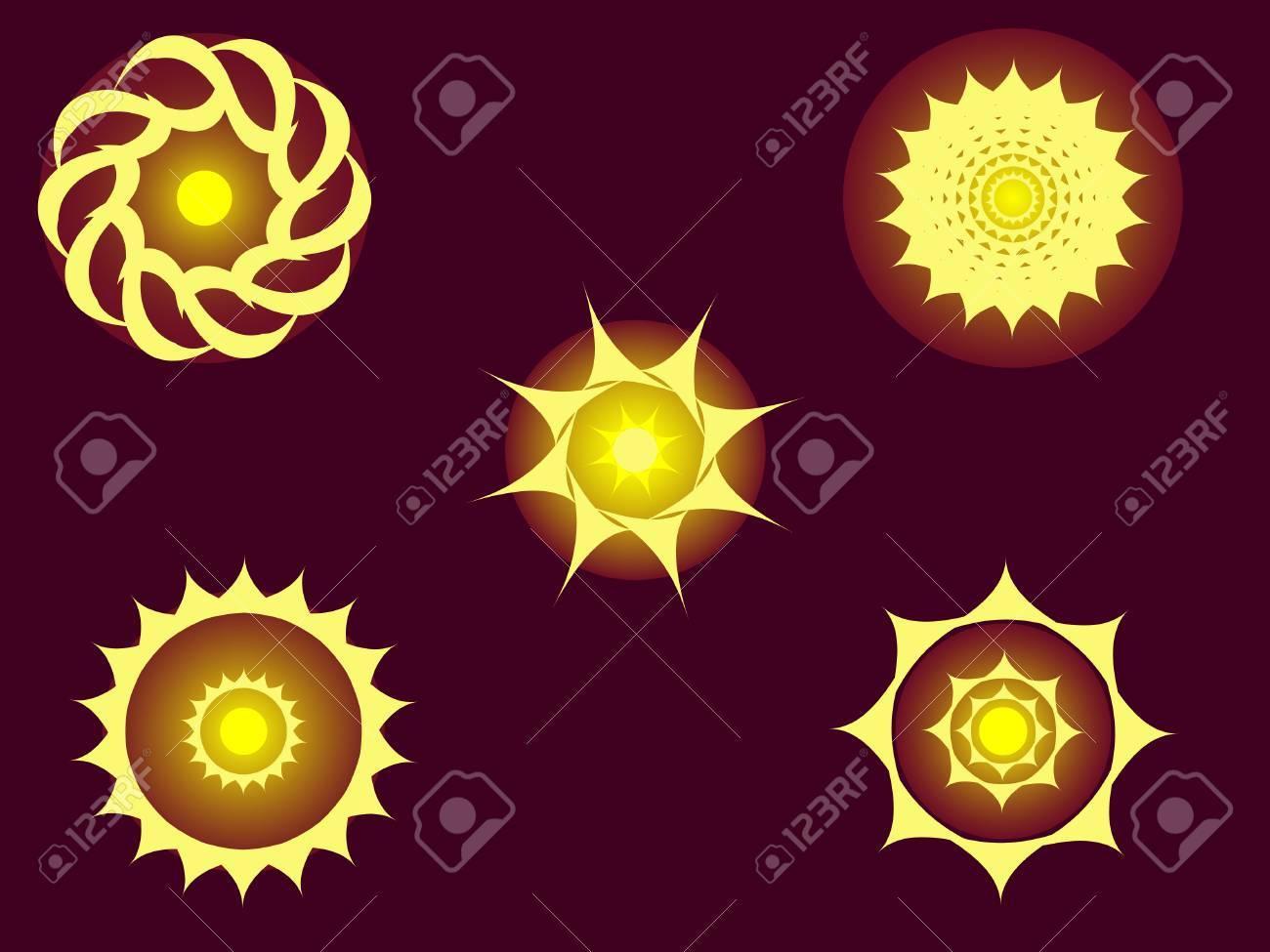 set of sun vector Stock Vector - 3187784
