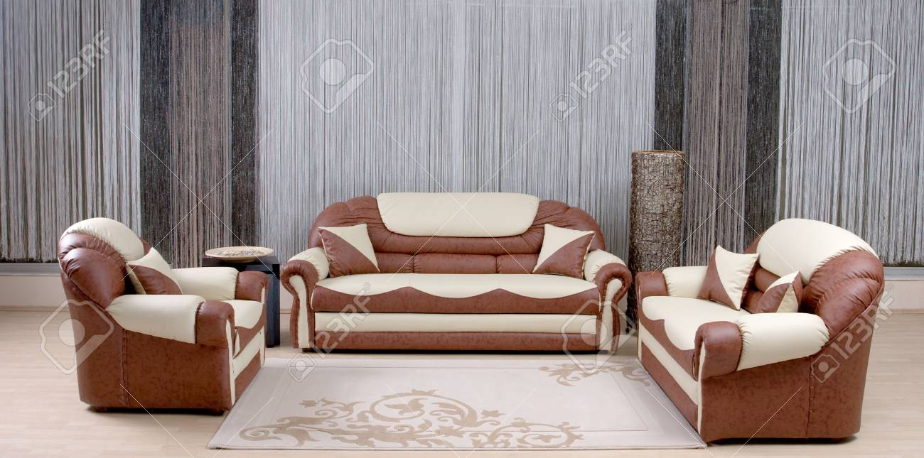 brown luxury sofa in a living room Stock Photo - 4587722