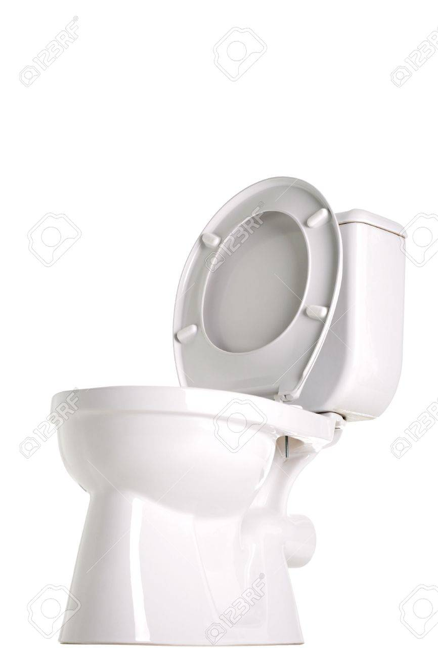 closed toilet, side view, isolated on white Stock Photo - 6398953