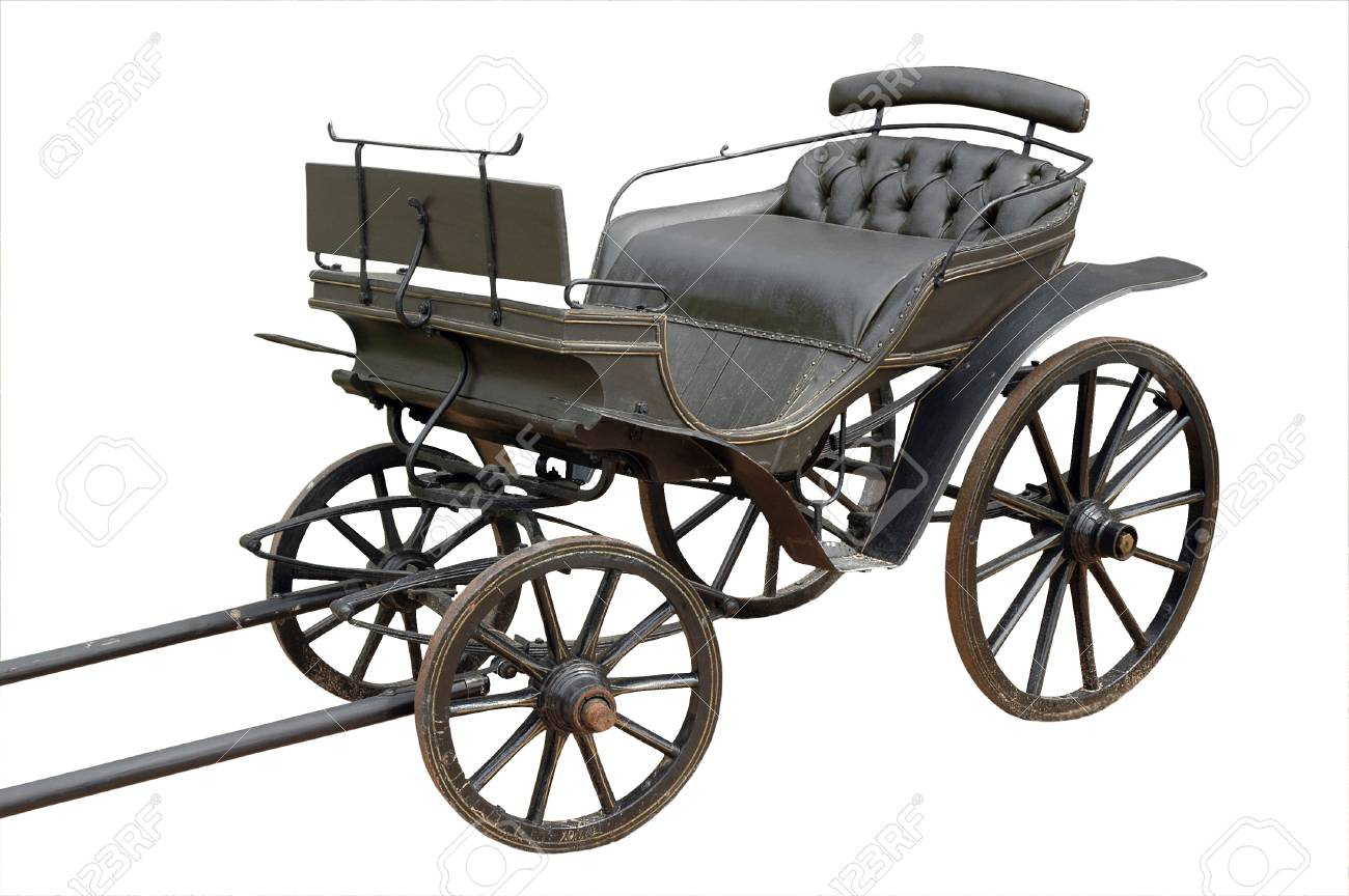 old coach isolated on white  clipping mask Stock Photo - 23213092