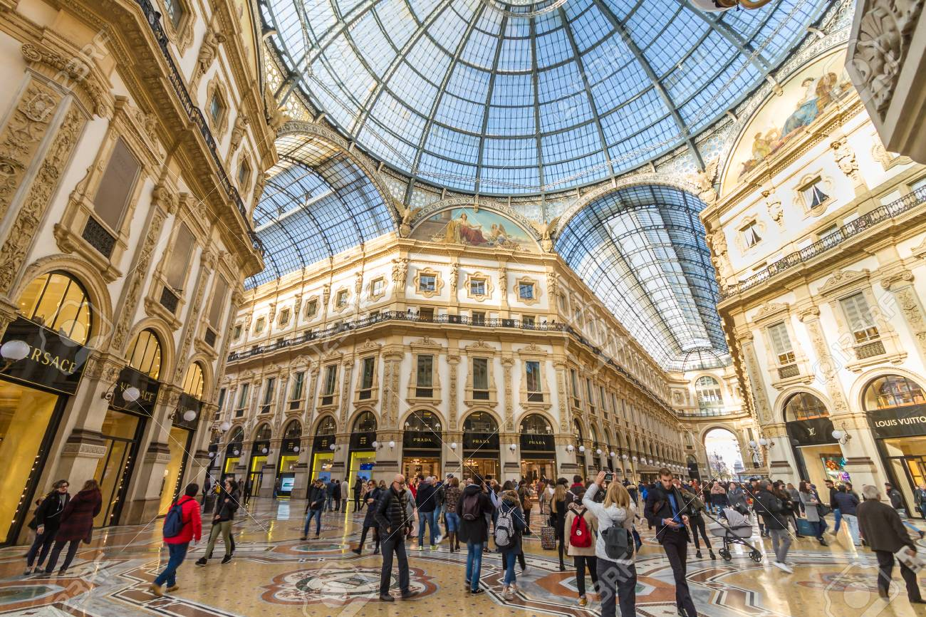 Milan November 2017 People Walking In Gallery Vittorio Emanuele Stock Photo Picture And Royalty Free Image Image 93425344