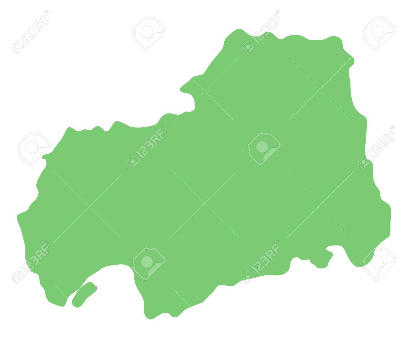 Map Of Hiroshima Prefecture, Japan Stock Photo, Picture And Royalty ...