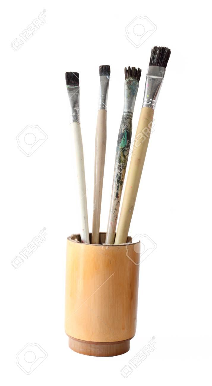 Paint brush set isolate on white Stock Photo - 16452436