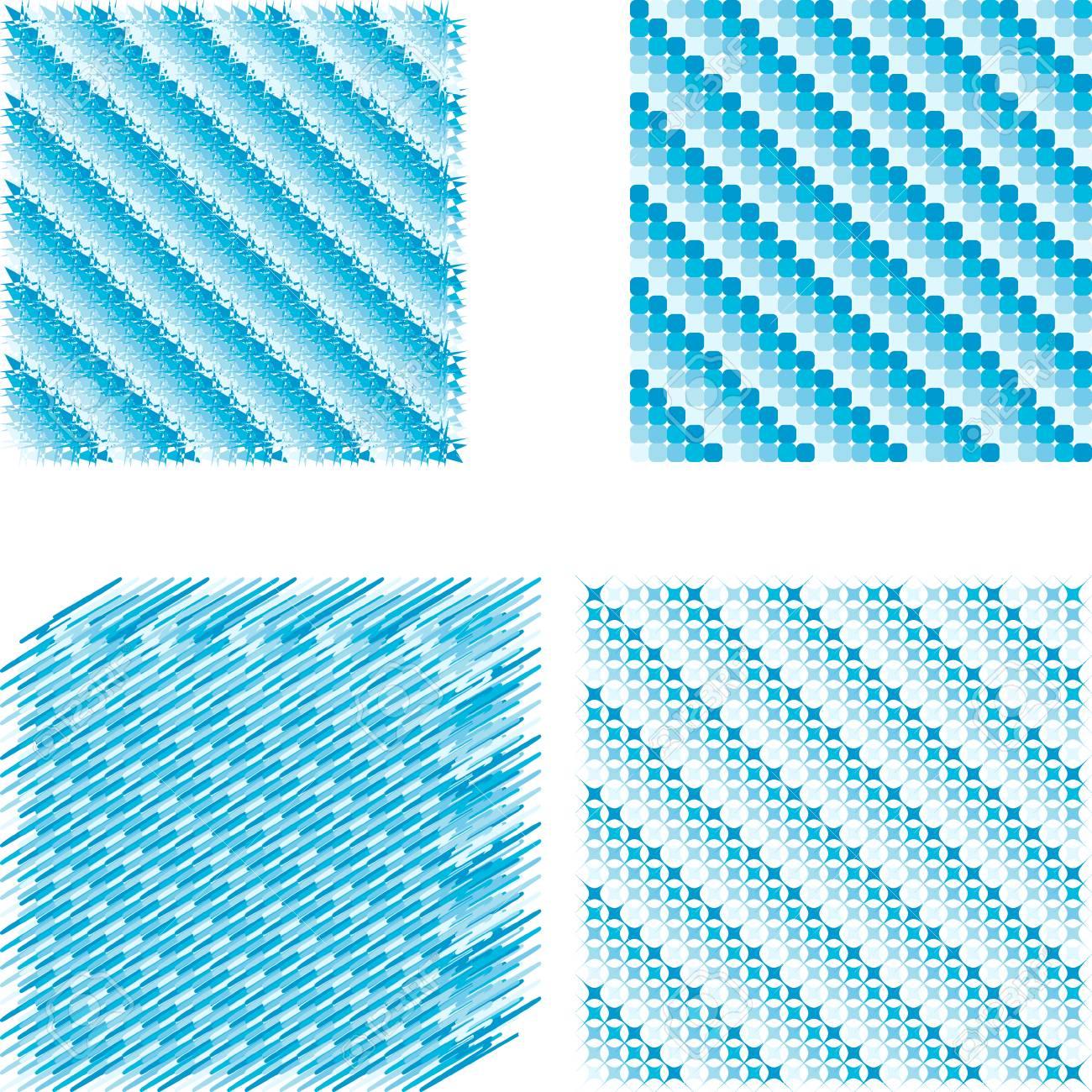 Ensemble Pixel De Fond De Glace En Diagonale Carrés Bleus Avec Différentes Nuances De Forme Diagonale Bleue Du Motif De Glace En Hiver Vecteur Pour