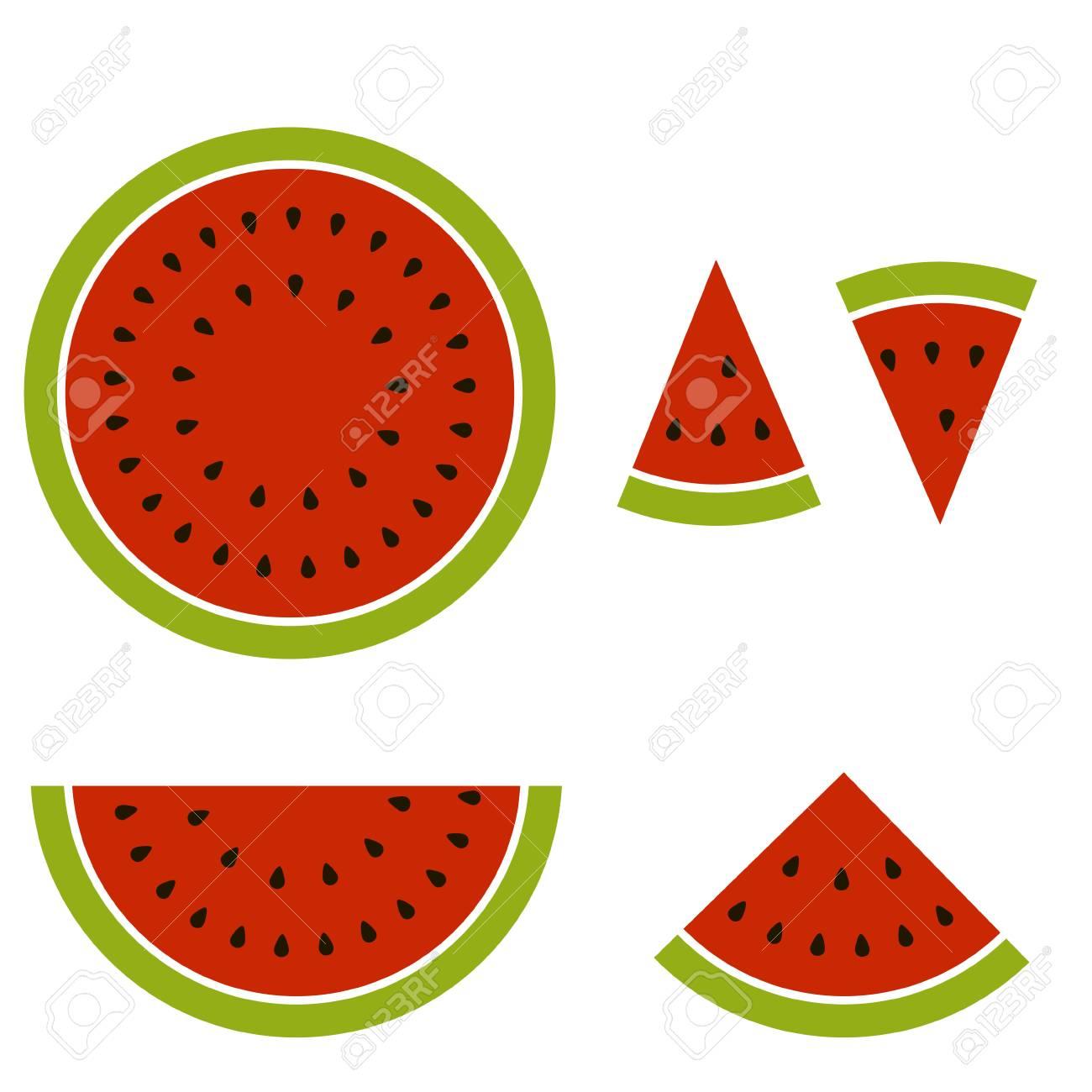 cartoon image split into pieces watermelon vector illustration rh 123rf com watermelon vectorial watermelon vector cute