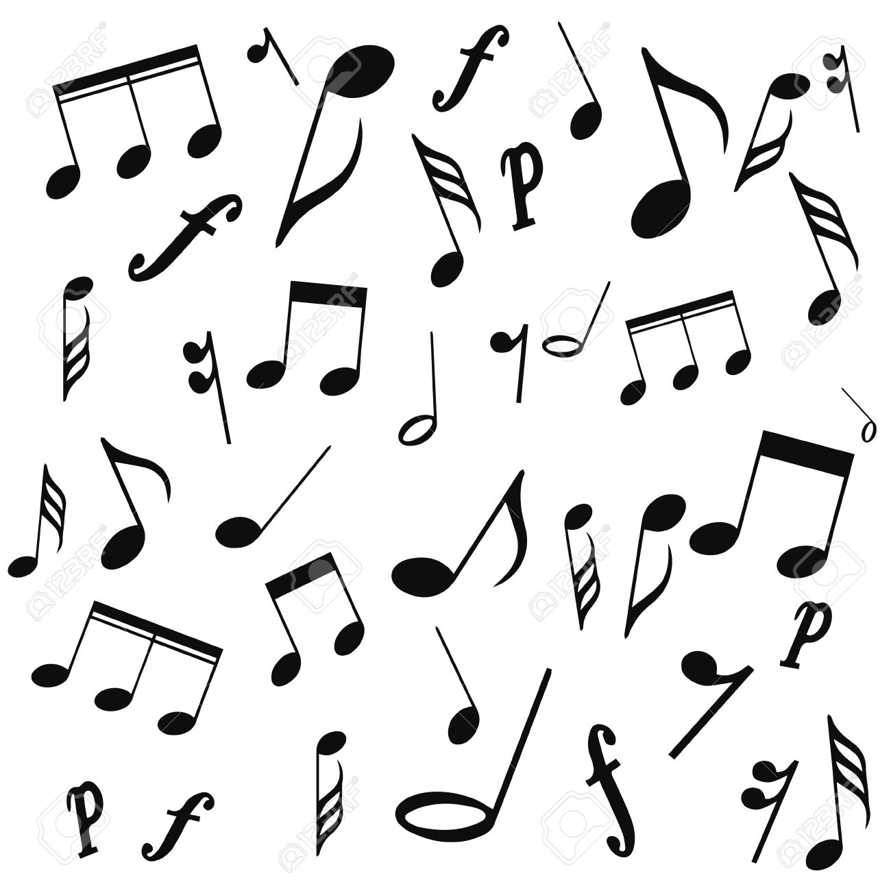 Musical symbols musical notes treble clef vector on a white musical symbols musical notes treble clef vector on a white background biocorpaavc