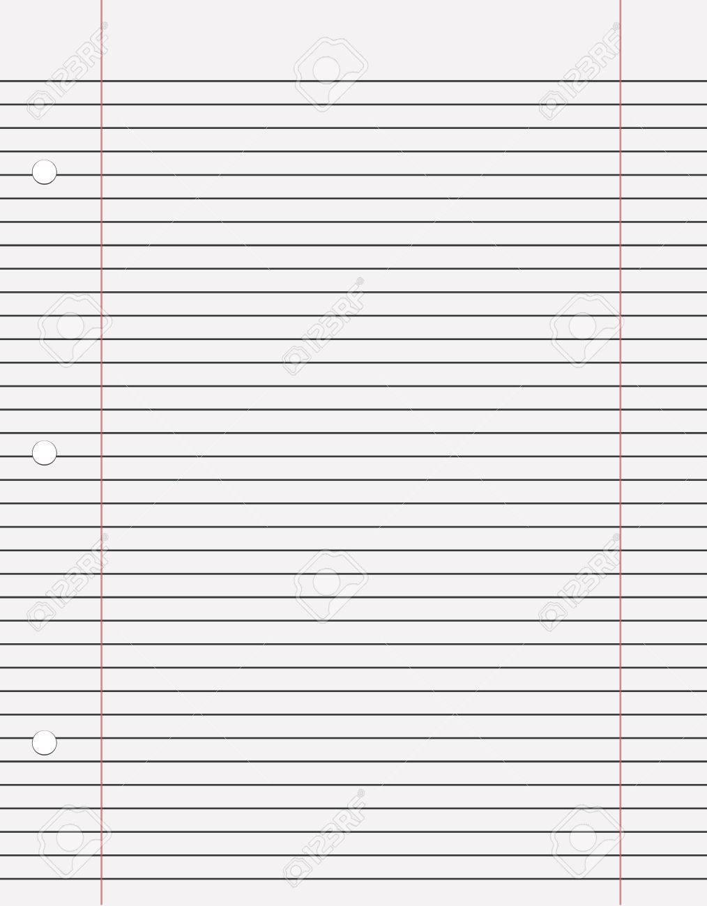 Notebook Paper With Lines Vektor For Print Or Design Vecror Royalty ...