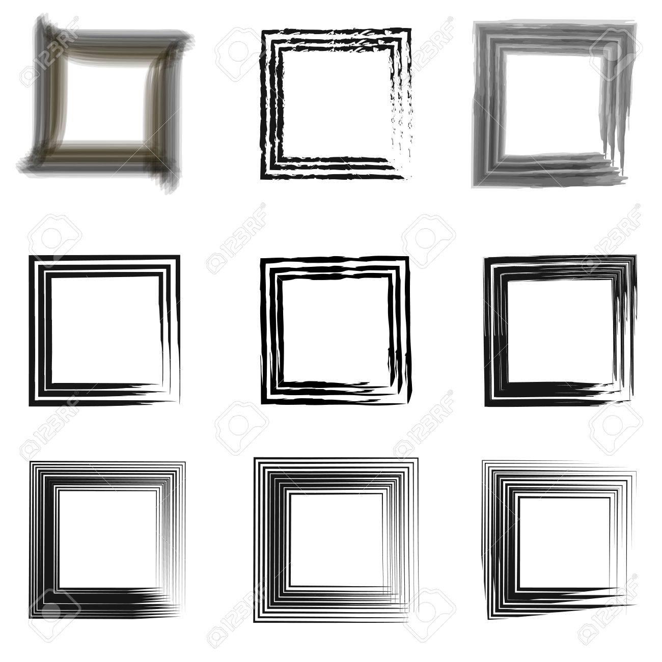 Set Of Vintage Frames For Photos, Retro Frame Template For Images ...