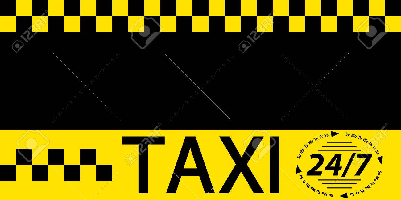 Business Card Taxi Banner, Business Card Template For Round The ...