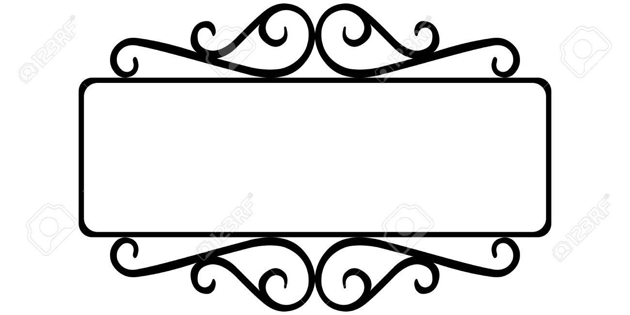 vintage wrought iron frame the template for the signs of an