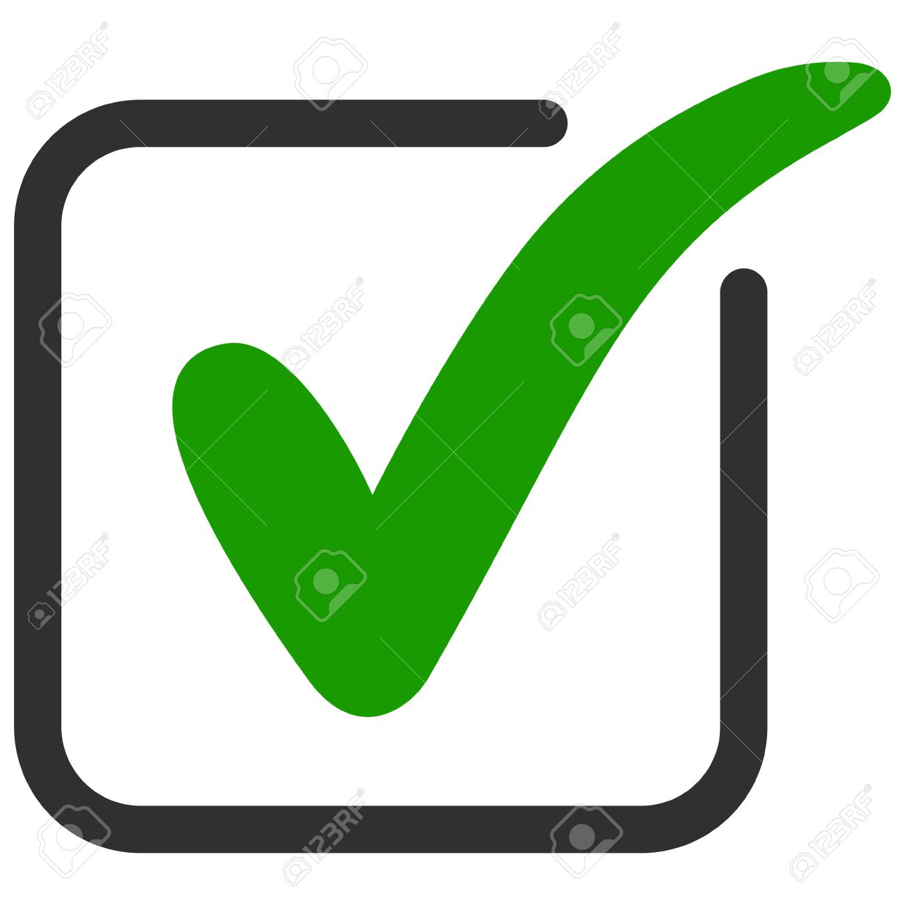Approved icon square with a green tick ok vector check mark approved icon square with a green tick ok vector check mark in box sign biocorpaavc