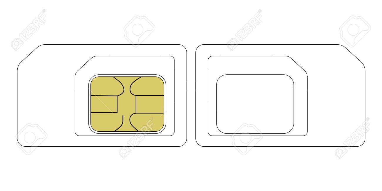 Modele De Taille De Carte Sim Vecteur De Communication Nano Et Micro Avec Carte Sim Clip Art Libres De Droits Vecteurs Et Illustration Image 71193659