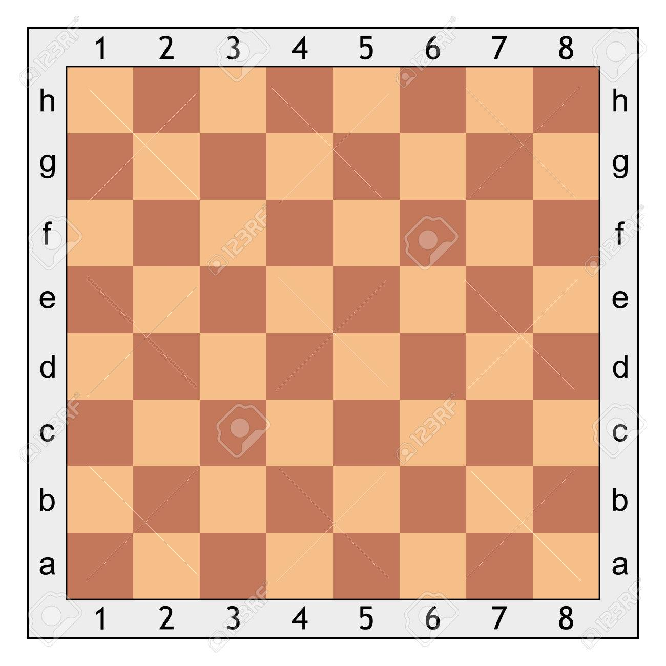 chess board for chess games vector template royalty free cliparts