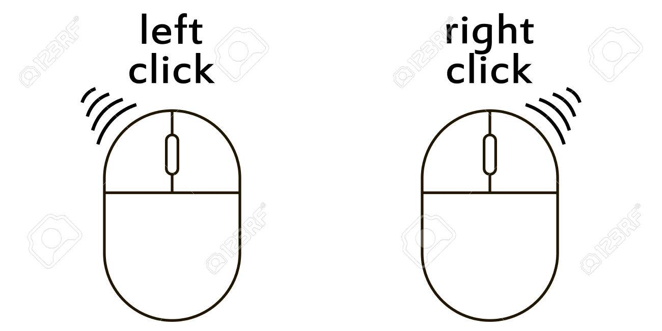 Remarkable Computer Mouse Click Buttons Icon Left And Right Click Scroll Wiring 101 Ferenstreekradiomeanderfmnl