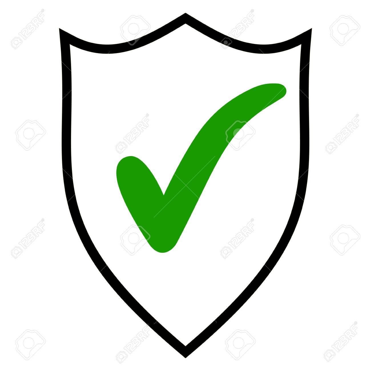 Shield Check Mark Logo Icon Design Template Elements. Quality ...