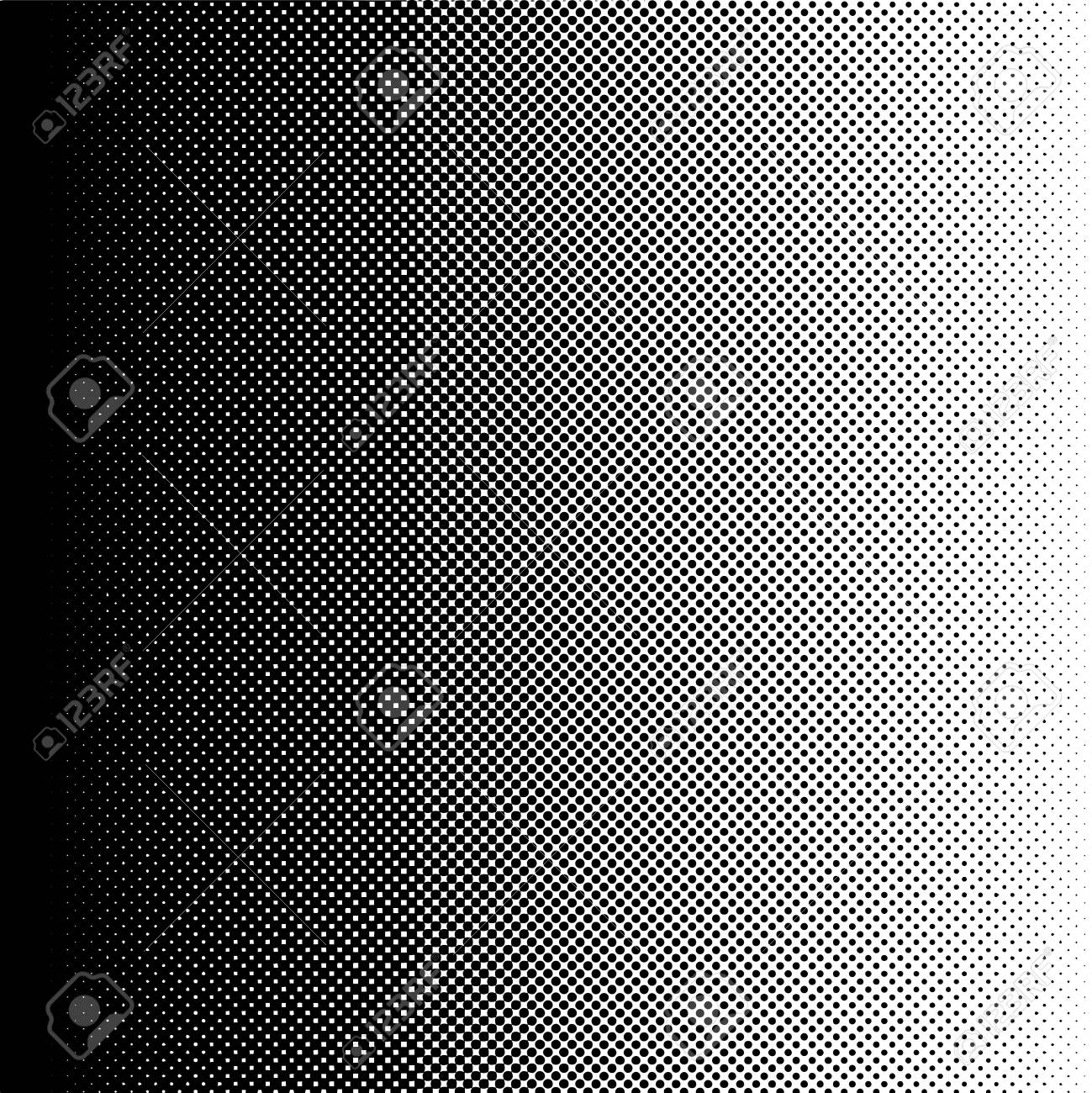 halftone gradient transition from black to white color, vector