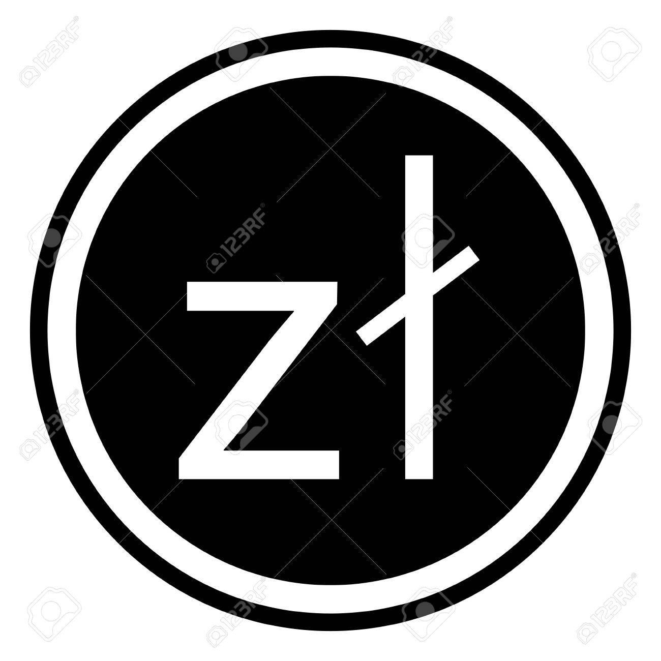 Sign Currency Poland Zloty Polish Zloty Vector Royalty Free