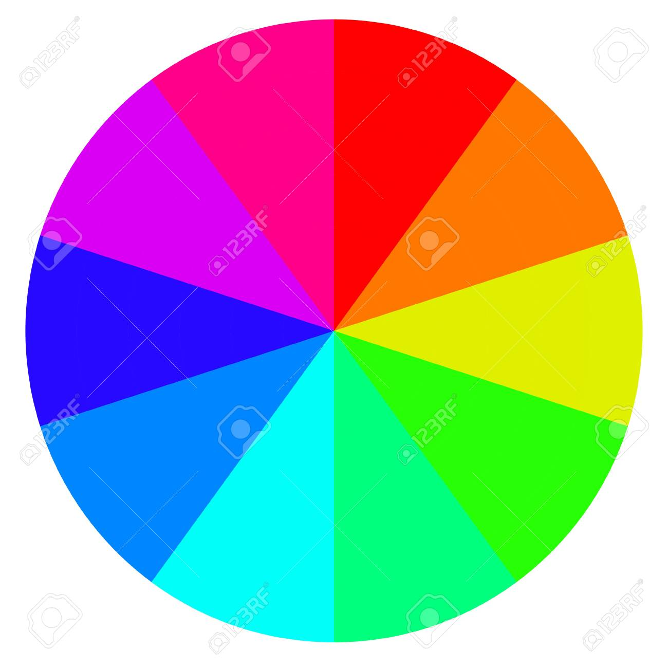 template wheel of fortune color palette vector royalty free