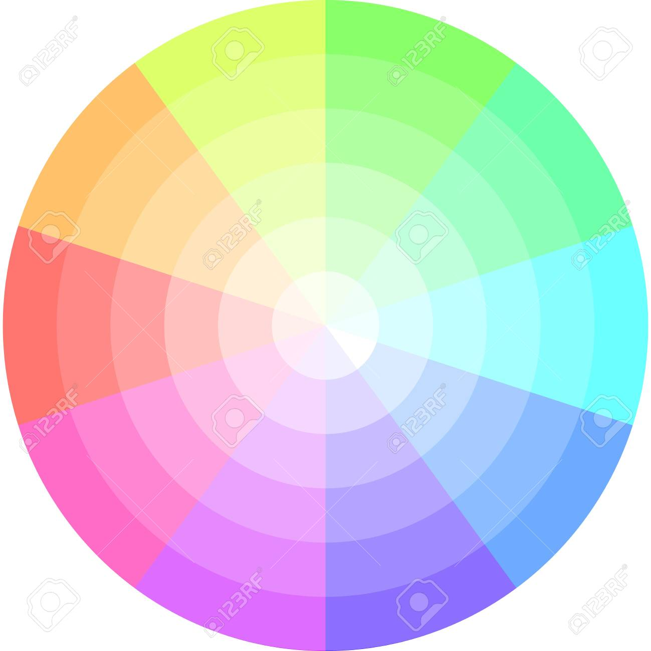 palette of pastel colors vector pie chart royalty free cliparts rh 123rf com pie chart vector psd pie chart vector free download