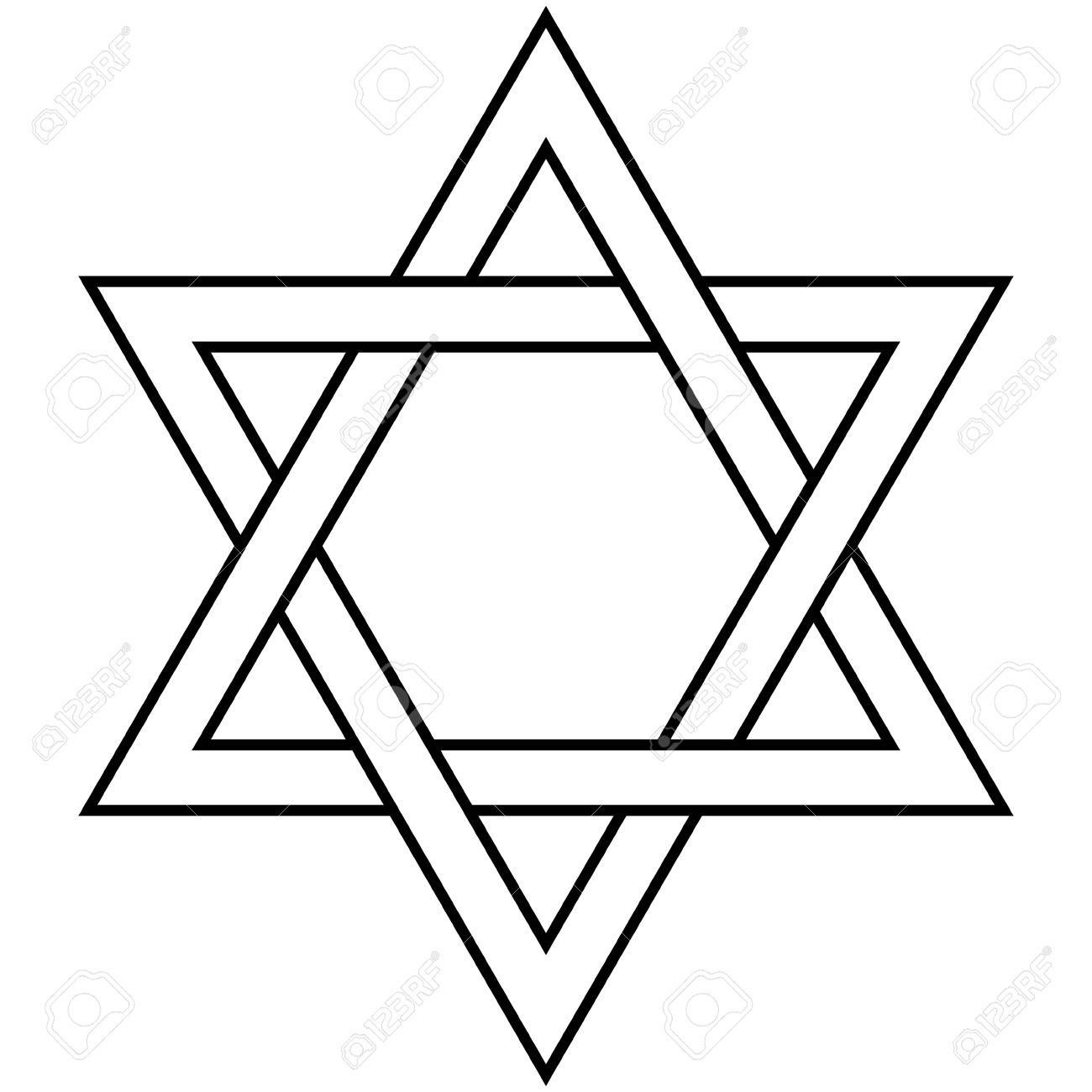 Star Of David Icon Vector Illustration Symbol Israel Judaism