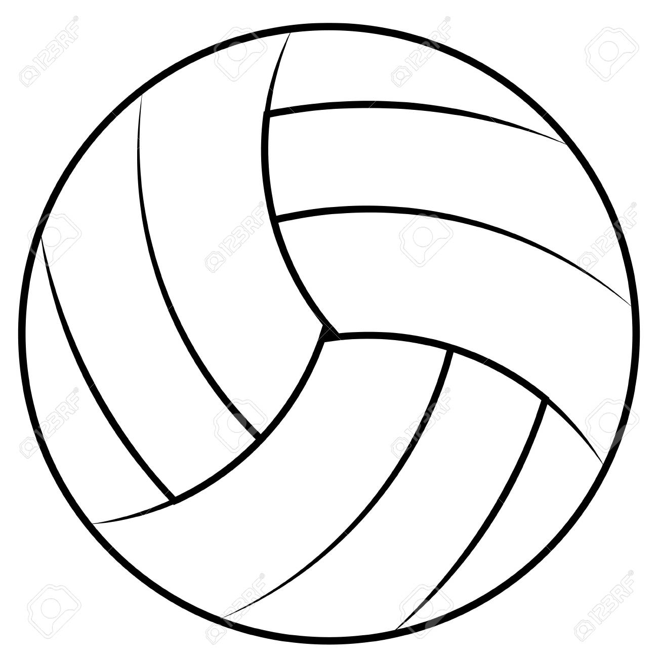 ball for playing beach volleyball vector volleyball ball contours rh 123rf com volleyball vector free volleyball vector passing