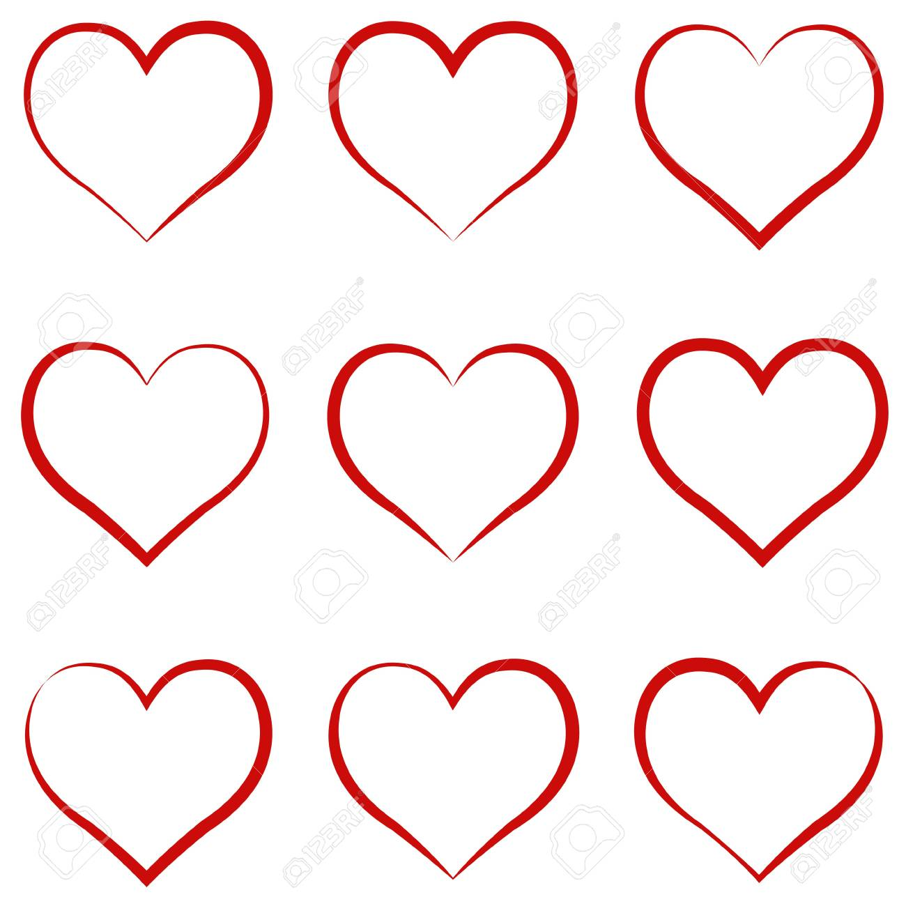 Heart outline red set symbol of the friendship and intimacy heart outline red set symbol of the friendship and intimacy of valentines day buycottarizona Image collections