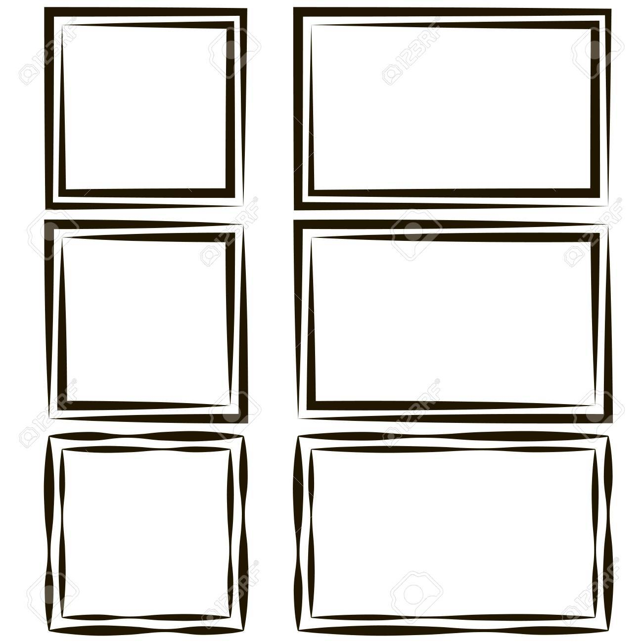 Set Of Frames For Picture Photos, Vector Empty Speech Bubble ...