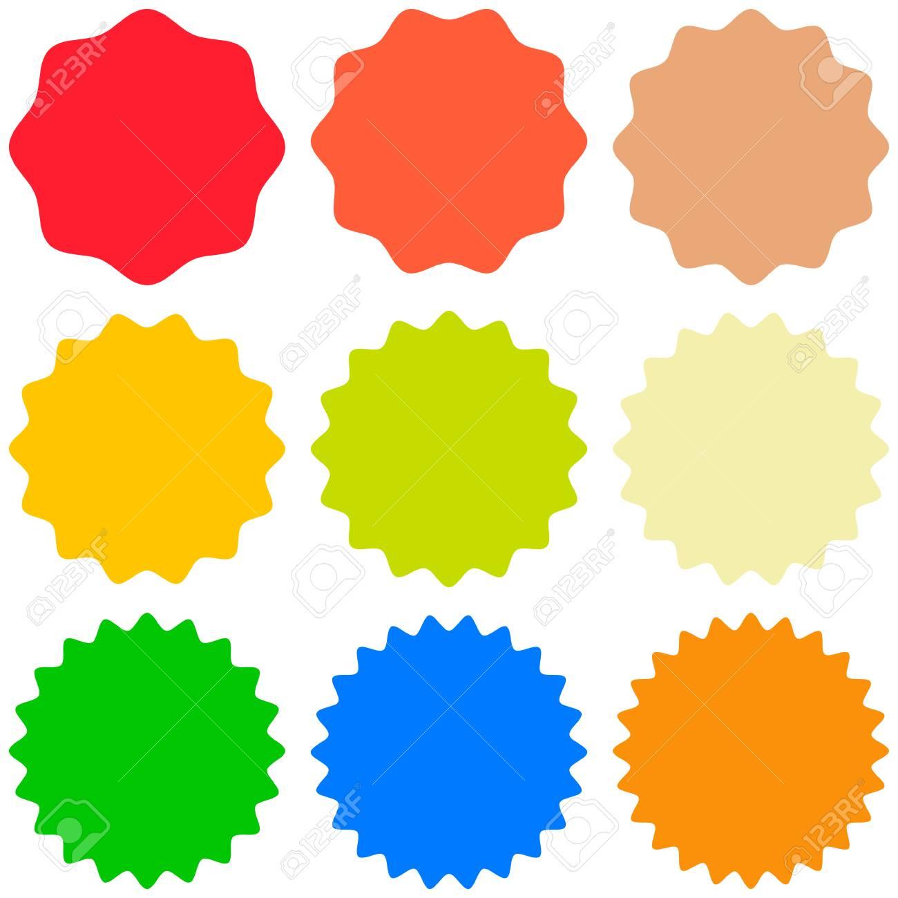 set template sunburst icons shapes badges vector starburst promo rh 123rf com starburst vector png starburst vector image