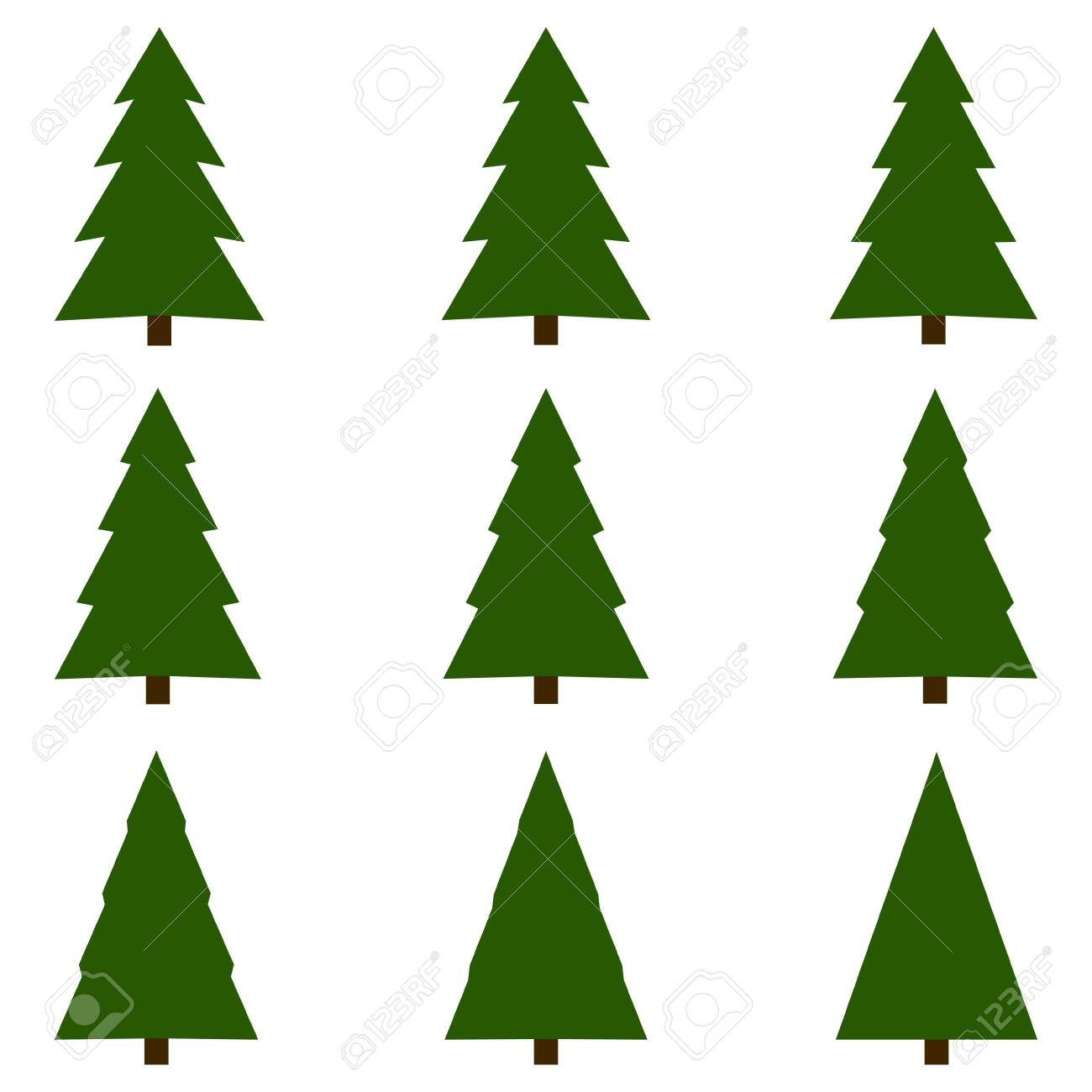 set of christmas trees vector christmas tree template royalty free cliparts vectors and stock illustration image 136167350 123rf com