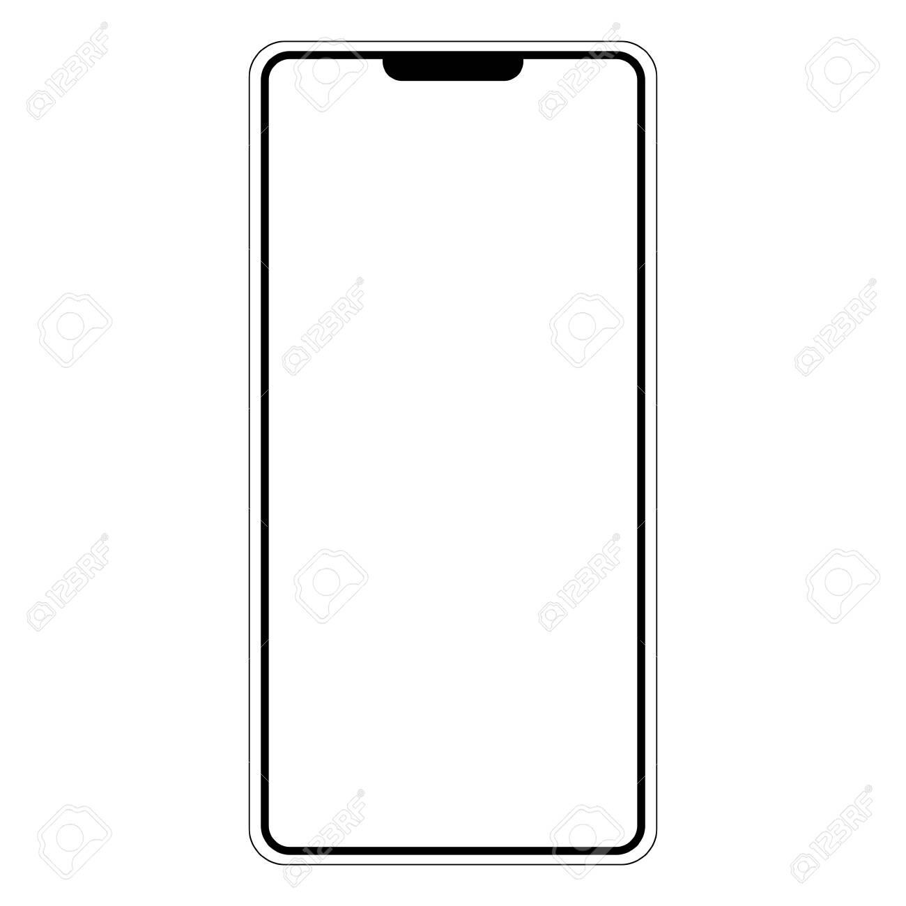 Silhouette shape mobile phone smartphone I am, vector shape I am smartphone mobile phone - 135702215