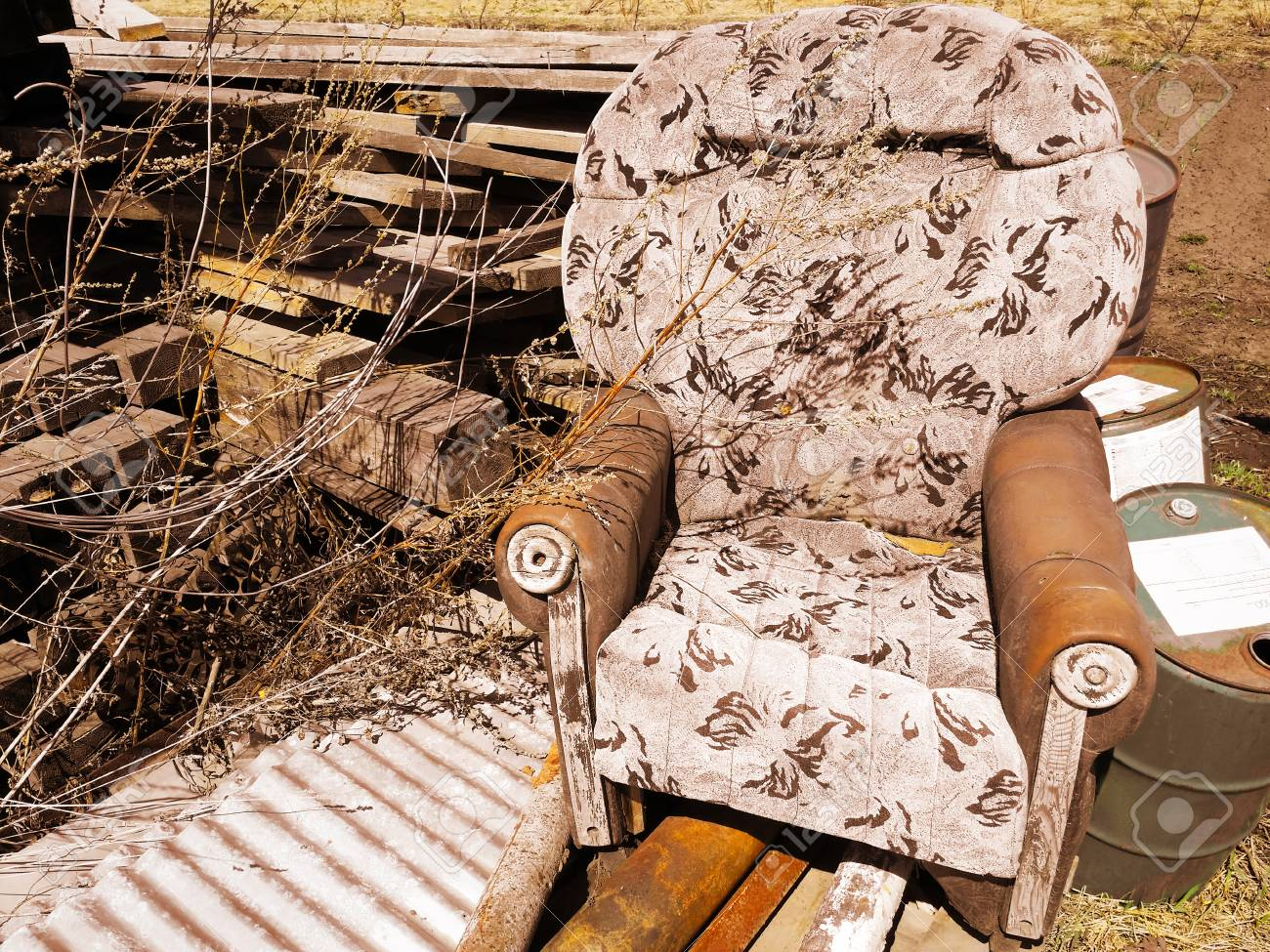 Prime Old Broken Armchair At The Dump With Boards Andrewgaddart Wooden Chair Designs For Living Room Andrewgaddartcom