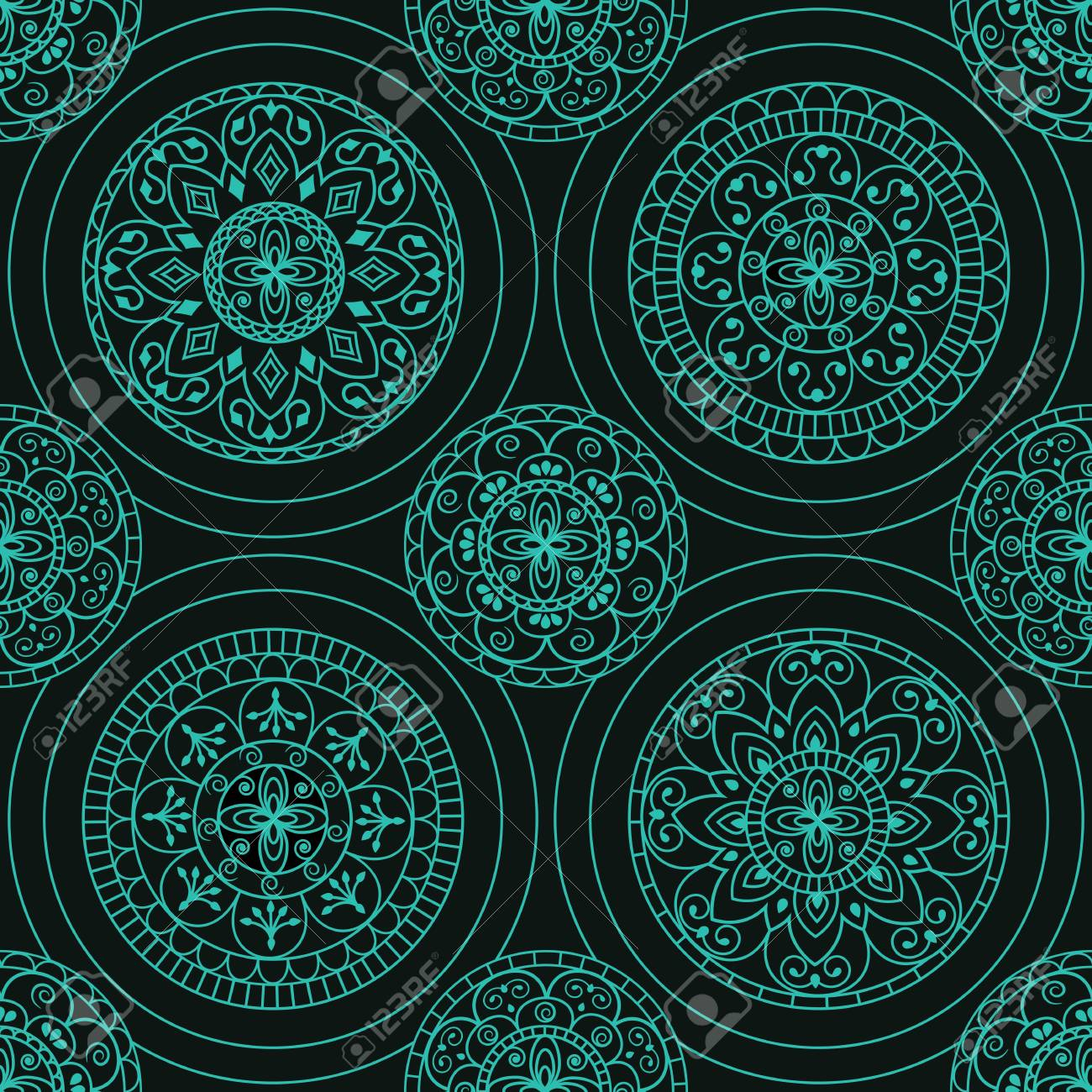 abstract background with circles Stock Vector - 13502125