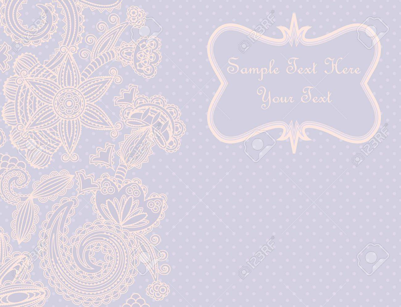 Greeting card with a floral pattern in pastel colors. Can be used as invitation, album cover, etc. Stock Vector - 14396257