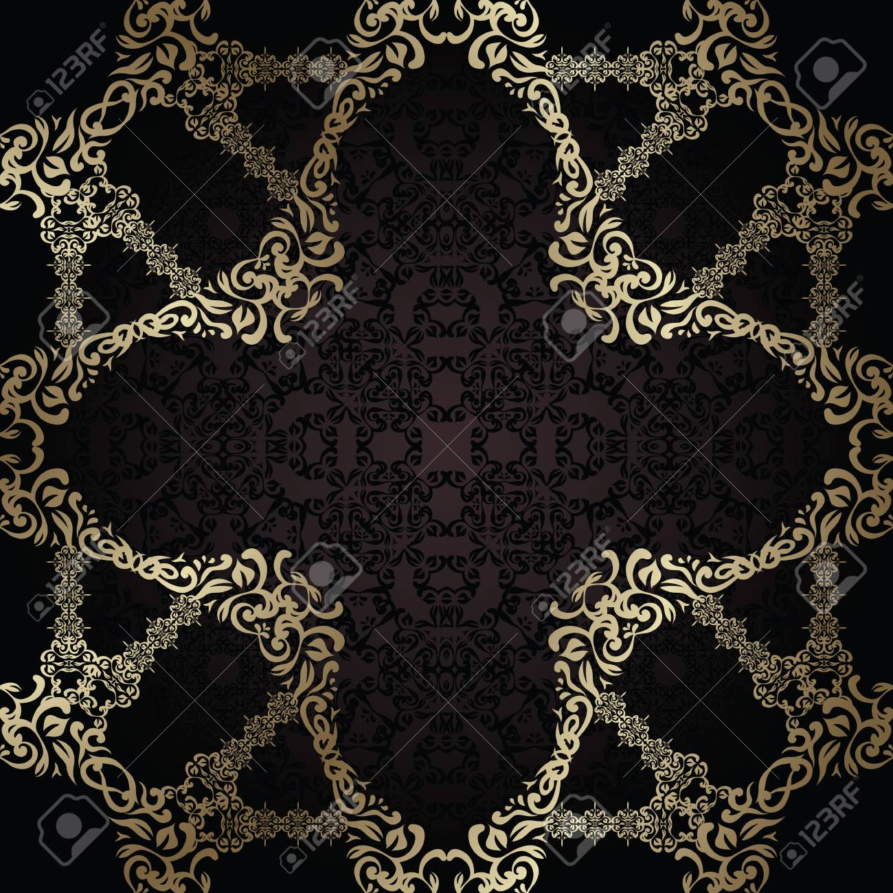 Seamless wallpaper with vintage frame. Original design. Can be used as invitation Stock Vector - 17930960
