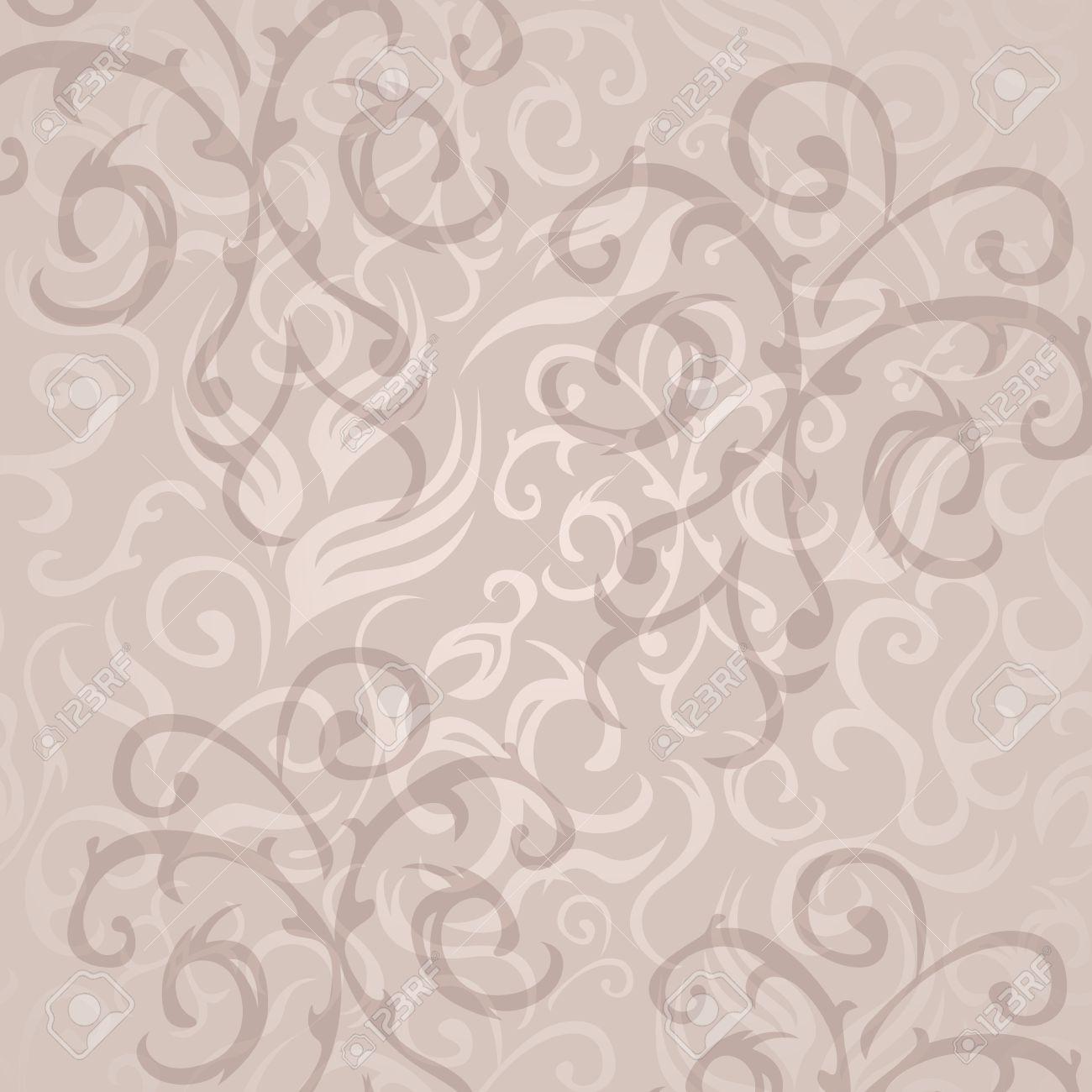 Vintage Papier Peint A Fleurs Transparente Dans Des Couleurs Pastel