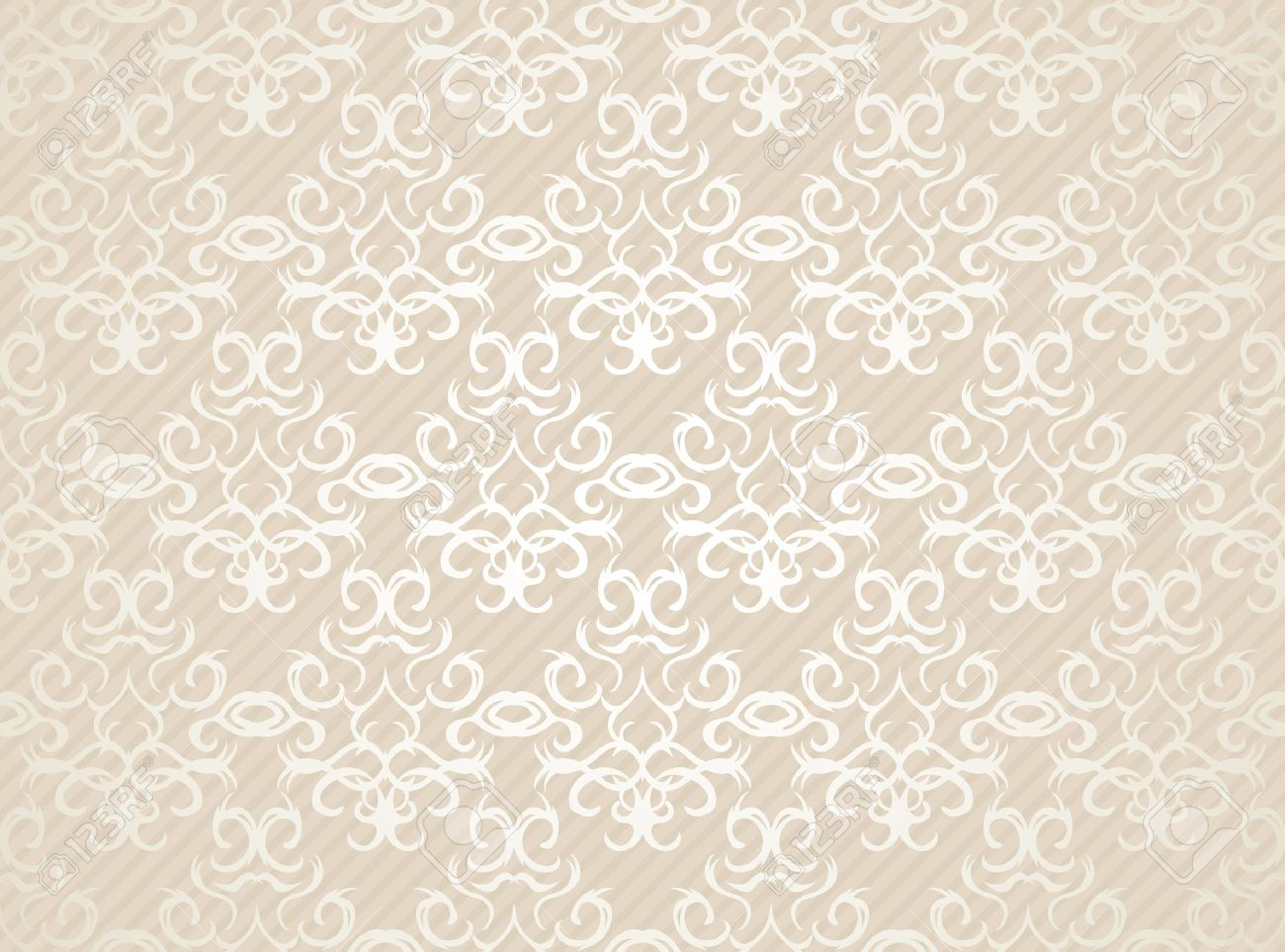 Seamless damask wallpaper. Pastel colors. Vintage background