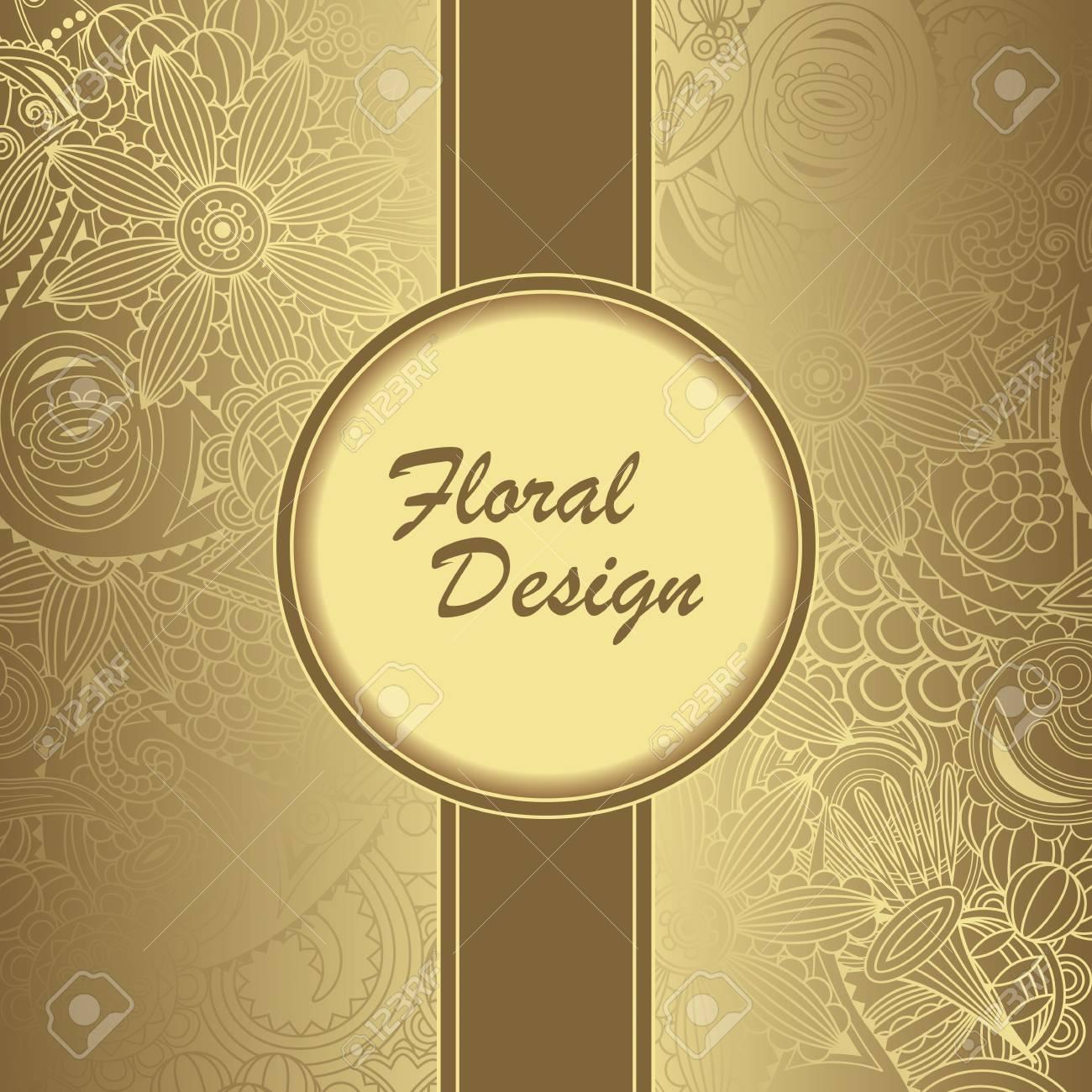 Floral Seamless Wallpaper Vintage Frame Elegant Background