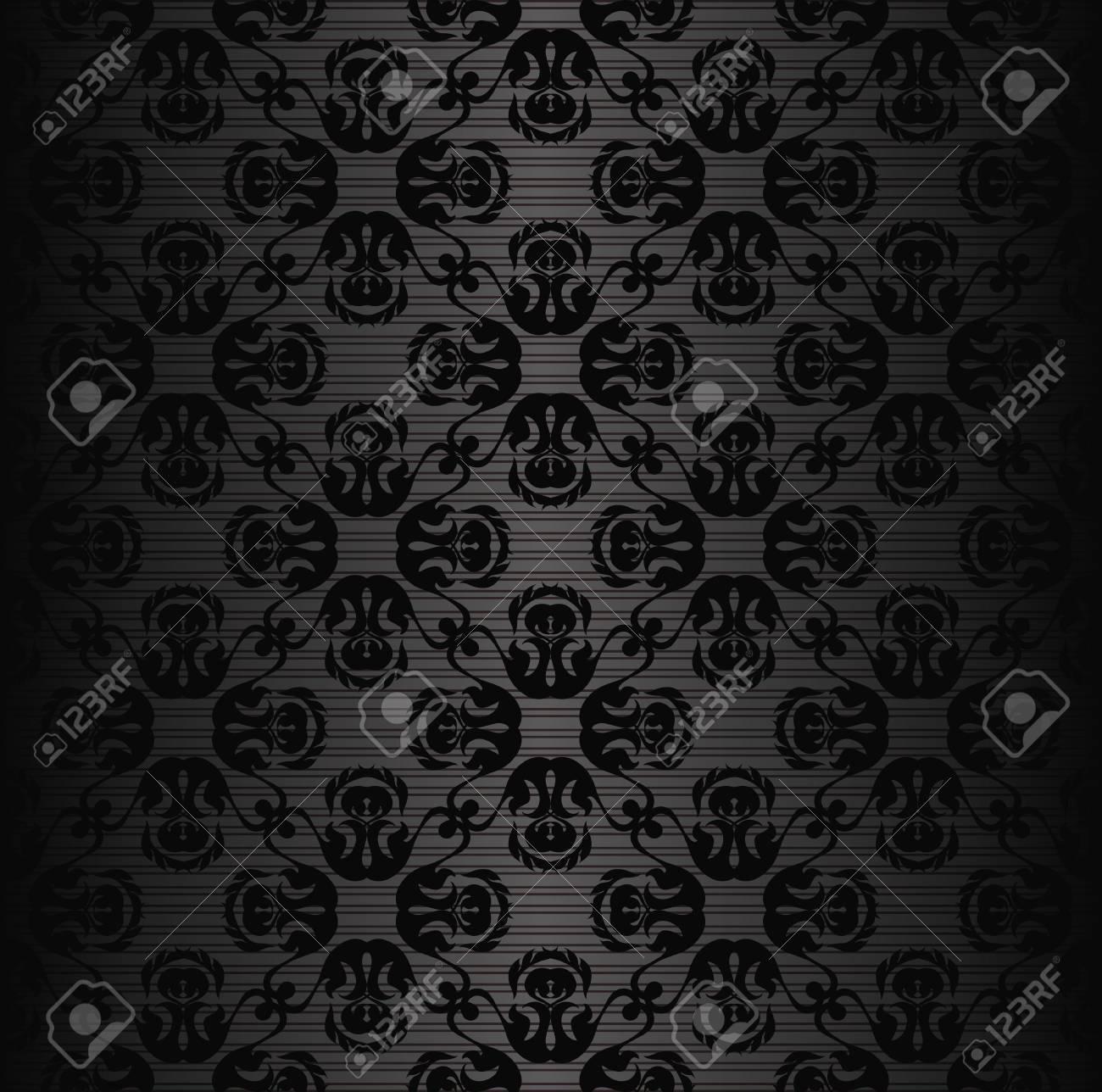 黒のモダンなシームレスな壁紙 ストライプの背景 のイラスト素材