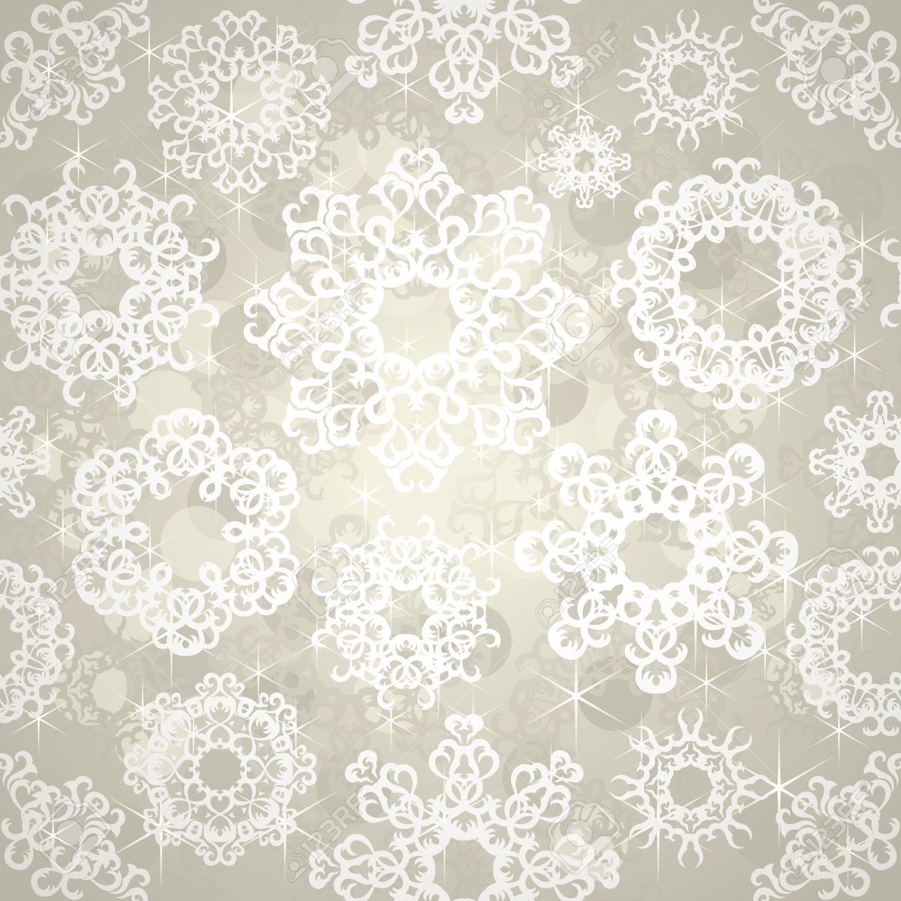 Papel Pintado Inconsútil Con Los Copos De Nieve. Navidad De Fondo ...
