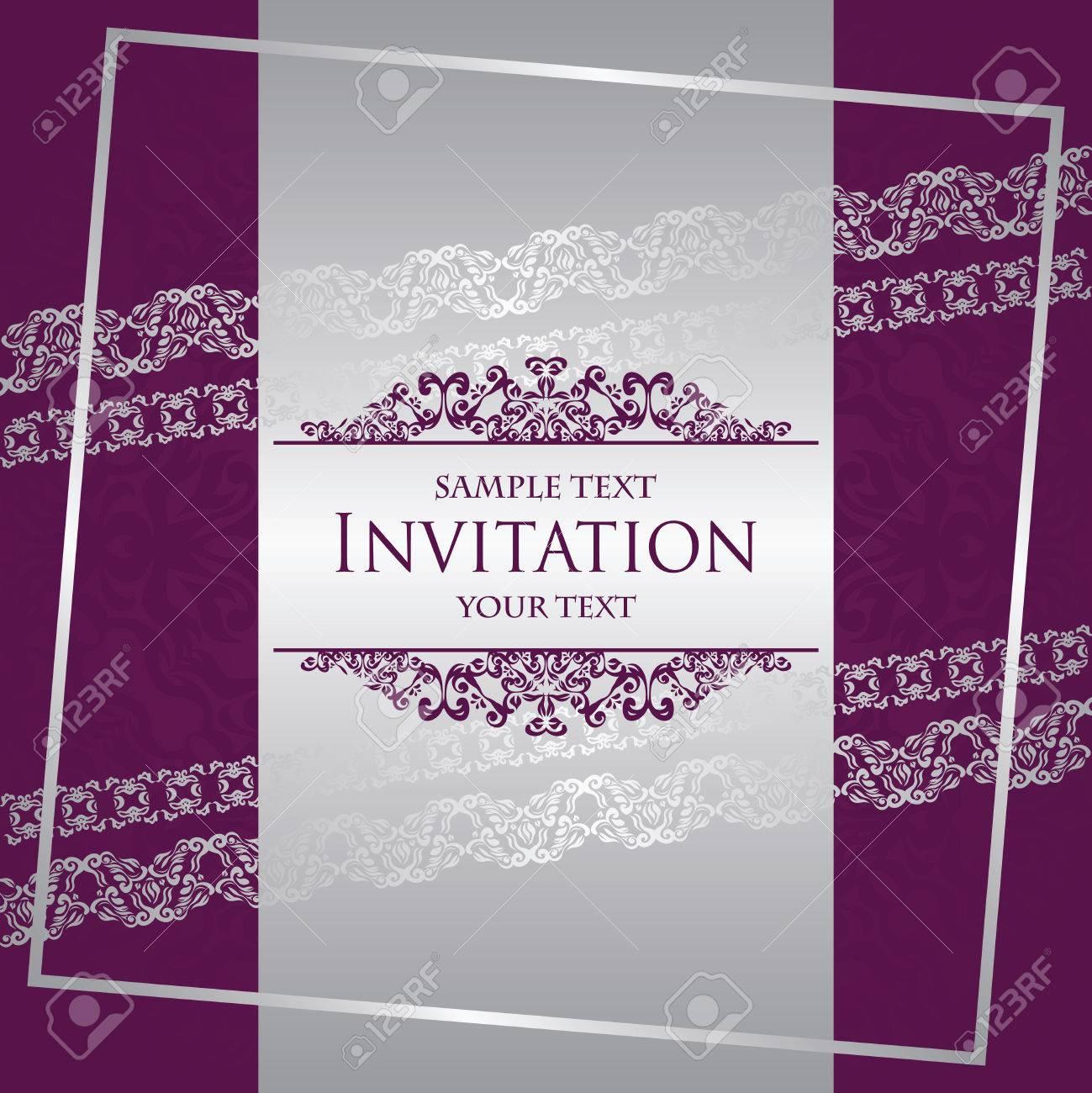 Invitation Card. Modern Invitation With Vintage Borders. Original ...