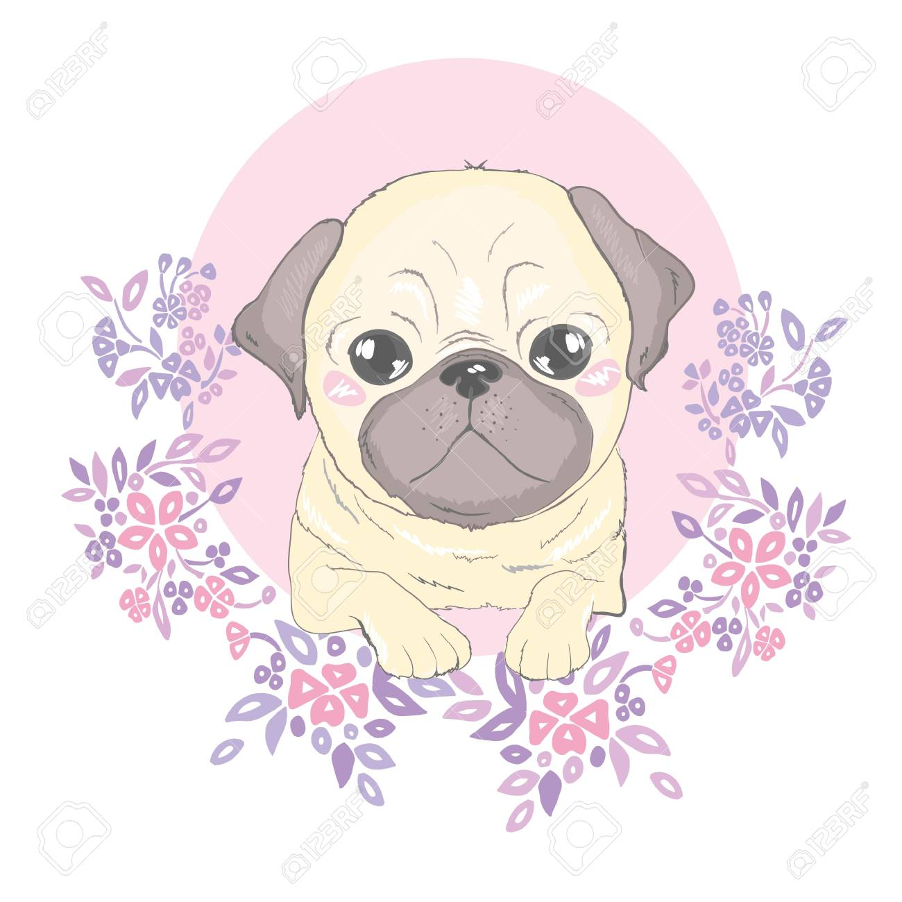 Vector Seamless Pattern With Cute Cartoon Dog Puppies Can Be Royalty Free Cliparts Vectors And Stock Illustration Image 100785825