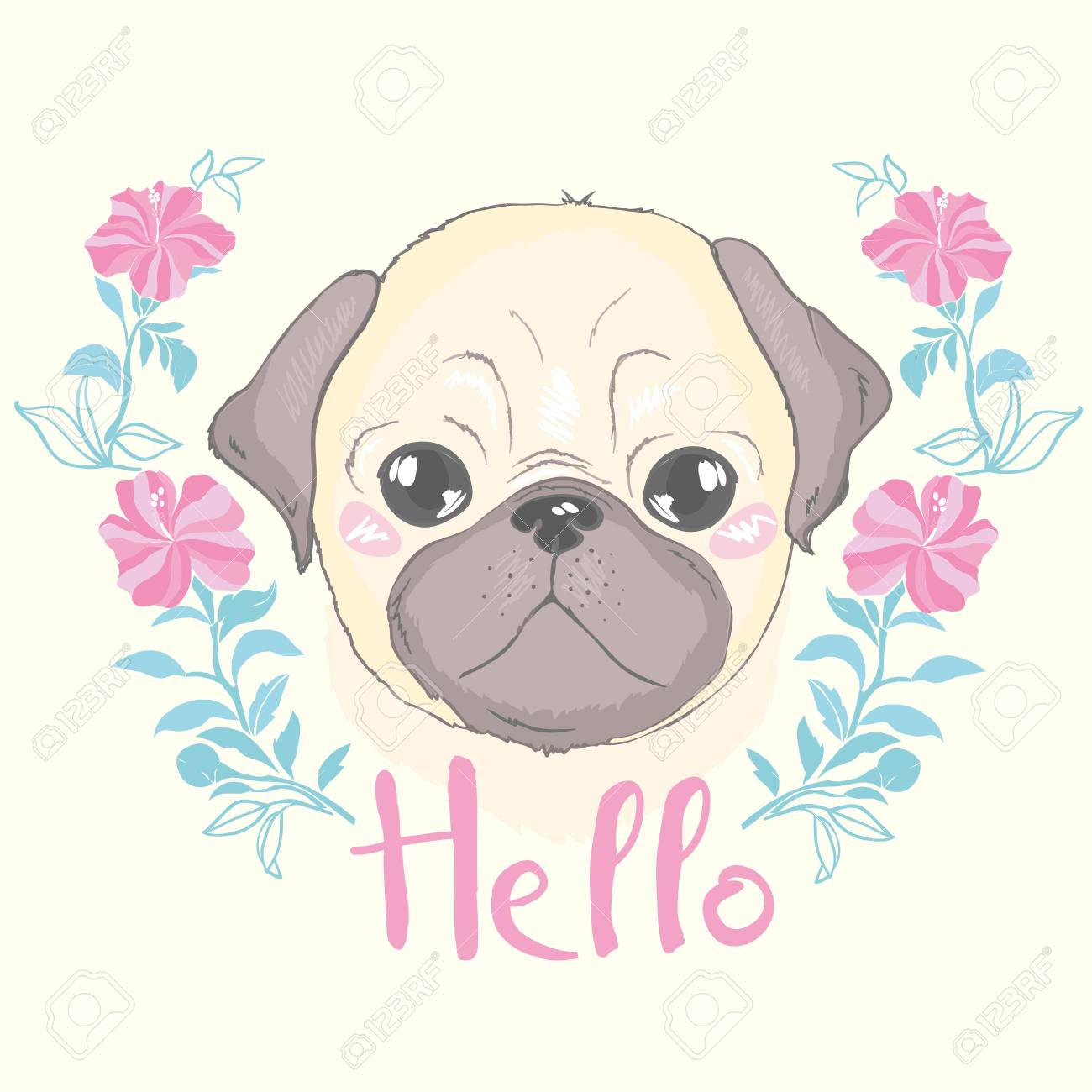 Vector Seamless Pattern With Cute Cartoon Dog Puppies Can Be Royalty Free Cliparts Vectors And Stock Illustration Image 100785846