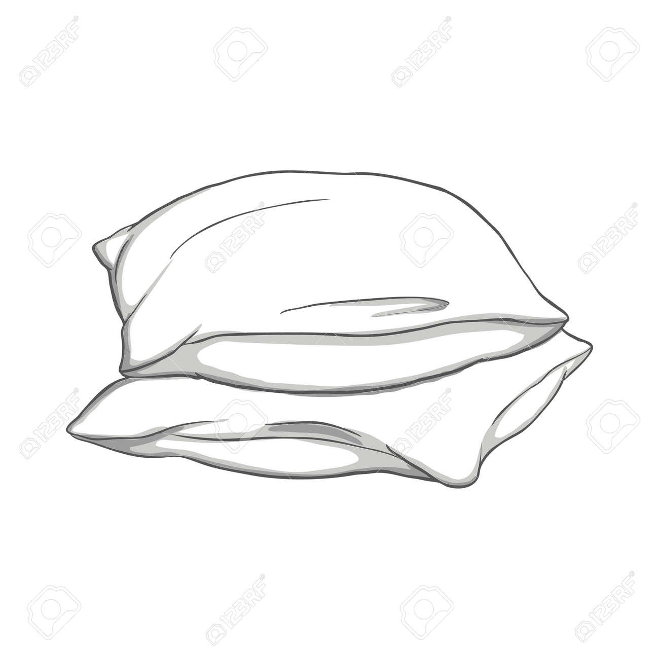 Pillow thin Line icon, sleep symbol, isolated on white background, vector Illustration - 168291130
