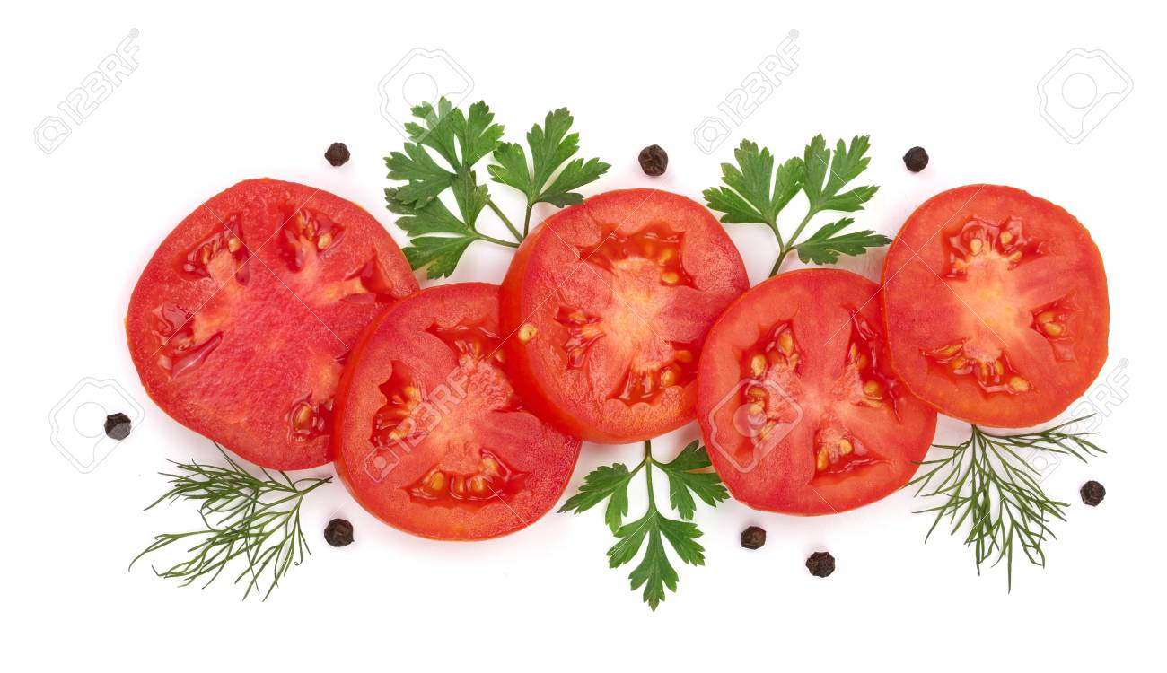 88000886-tomato-slice-with-parsley-leave
