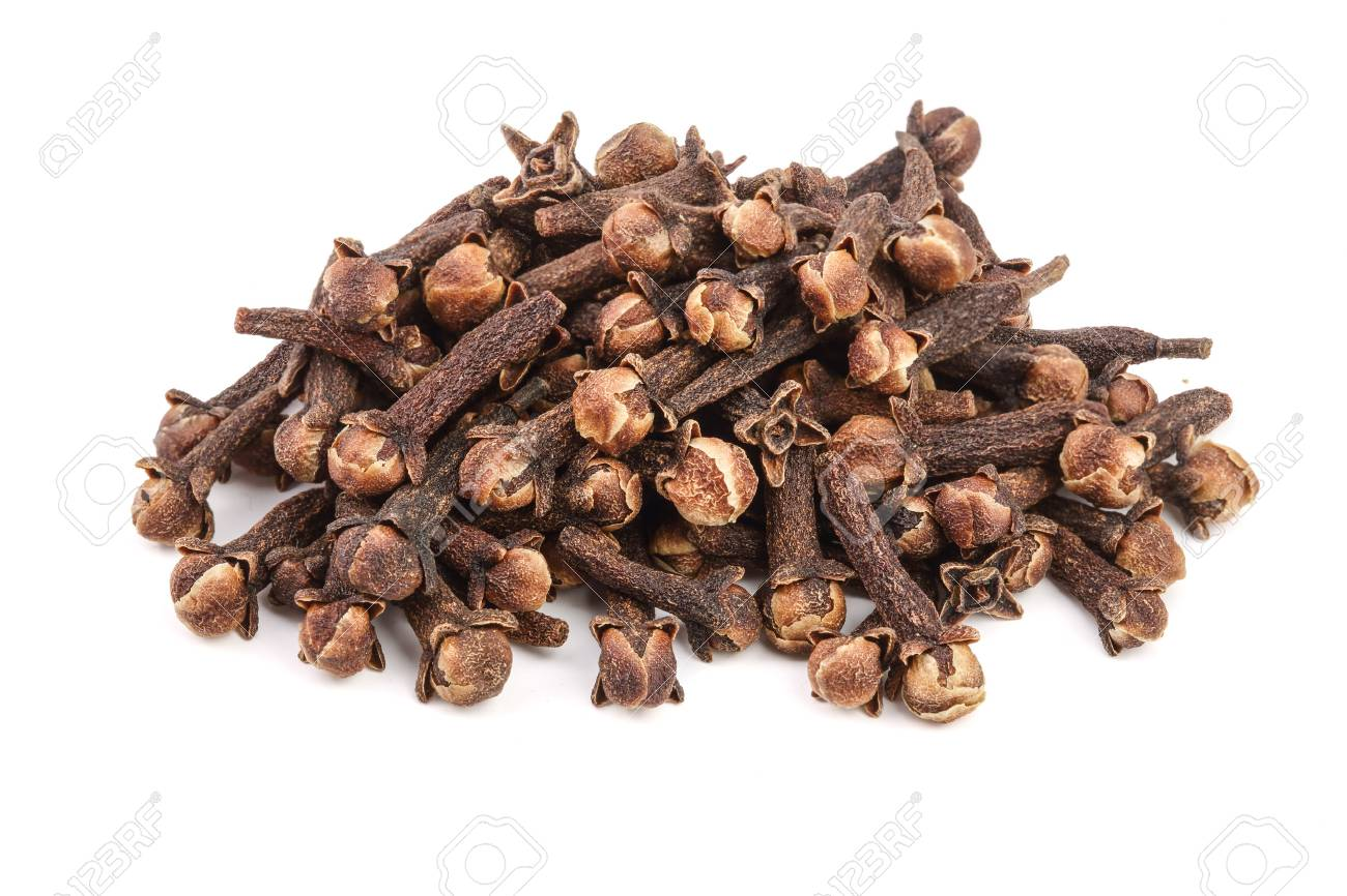 dry spice cloves isolated on white background - 89123597