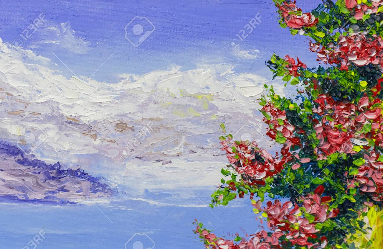 painting texture oil painting landscape, impressionism art, painted color image, backgrounds and wallpaper
